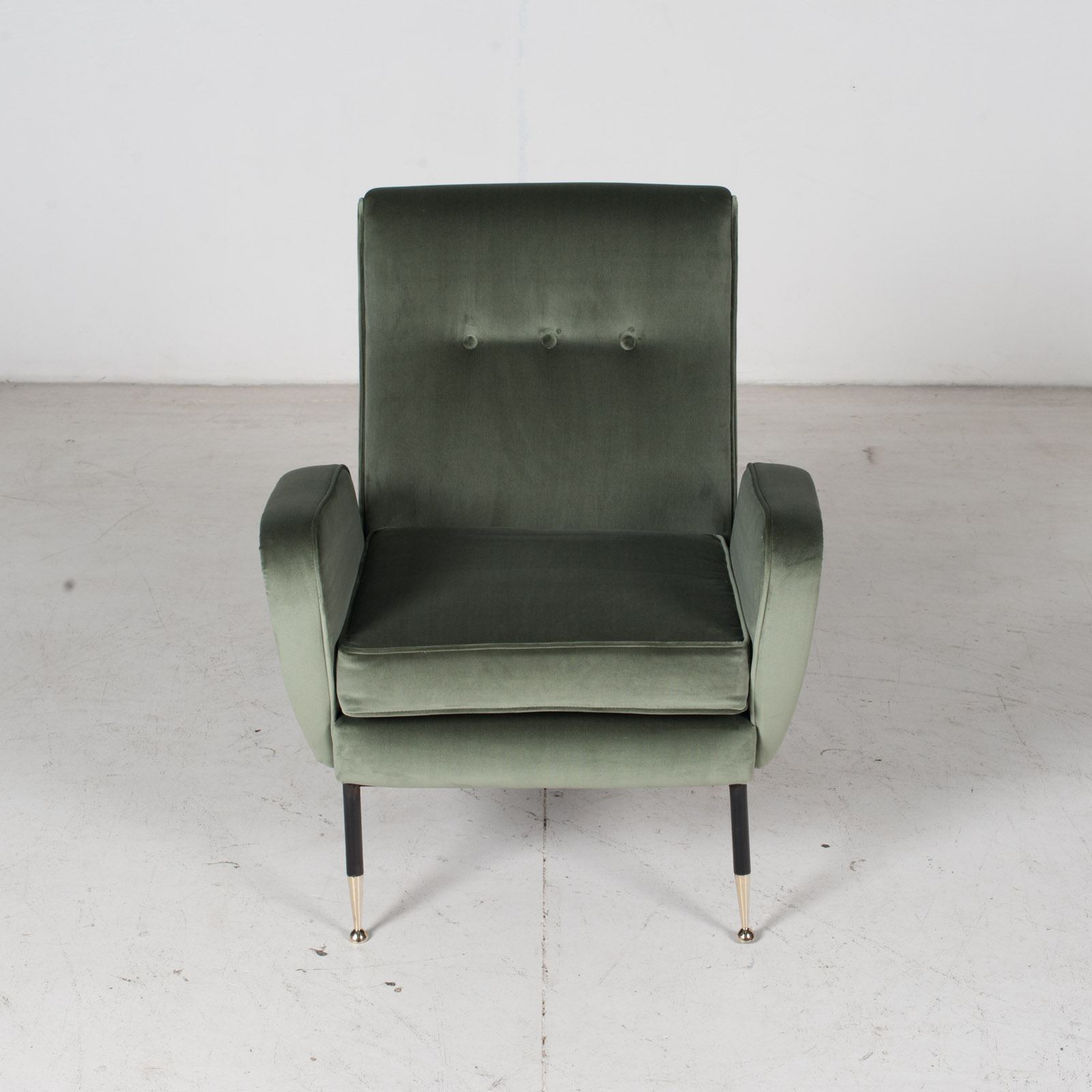 Armchair In The Style Of Gio Ponti In New Upholstery, Italy 2