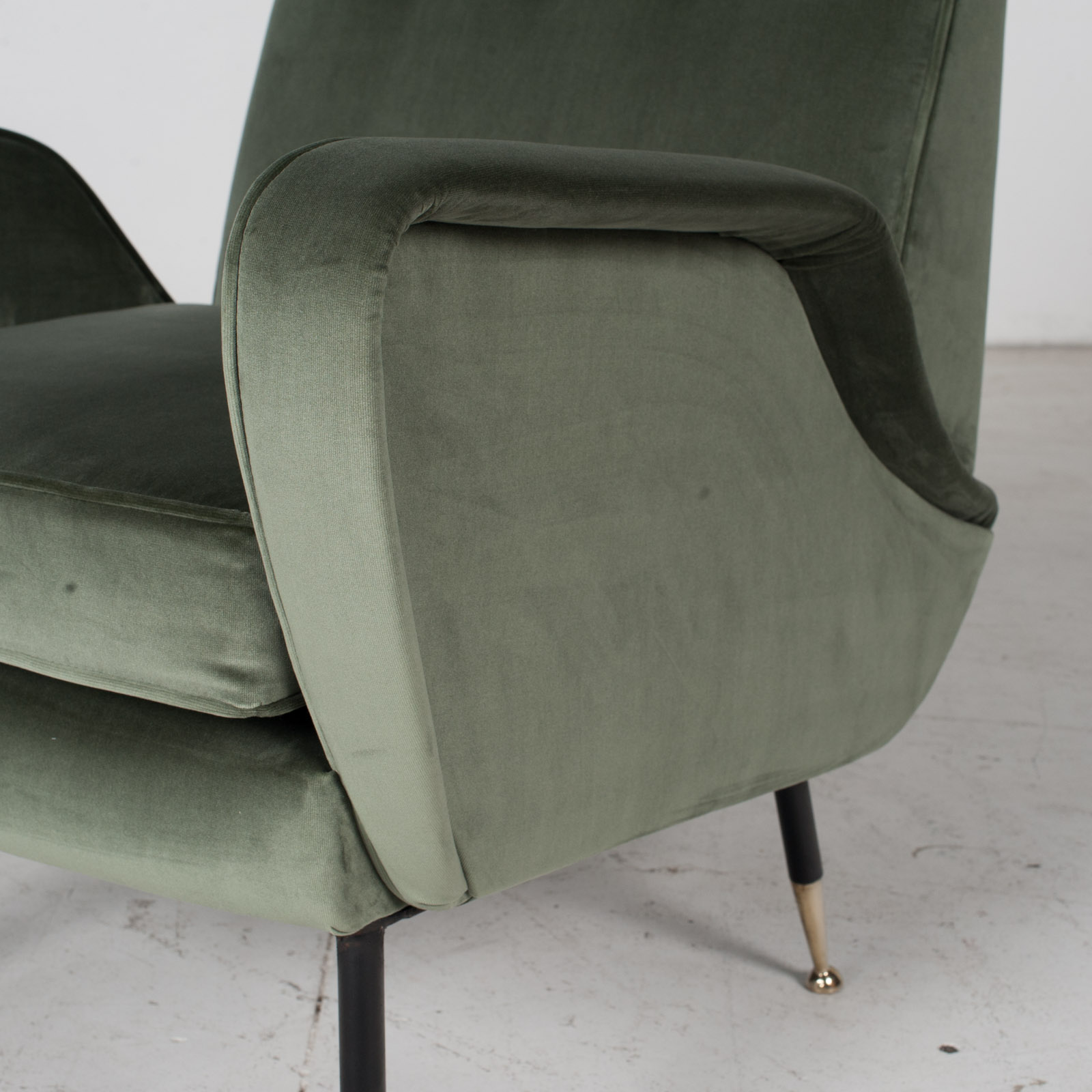 Armchair In The Style Of Gio Ponti In New Upholstery, Italy 7