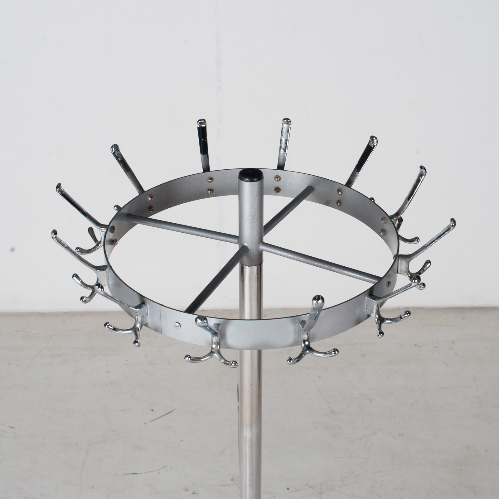 Industrial Coat Stand By Gispen In Chrome, 1950s, The Netherlands 5