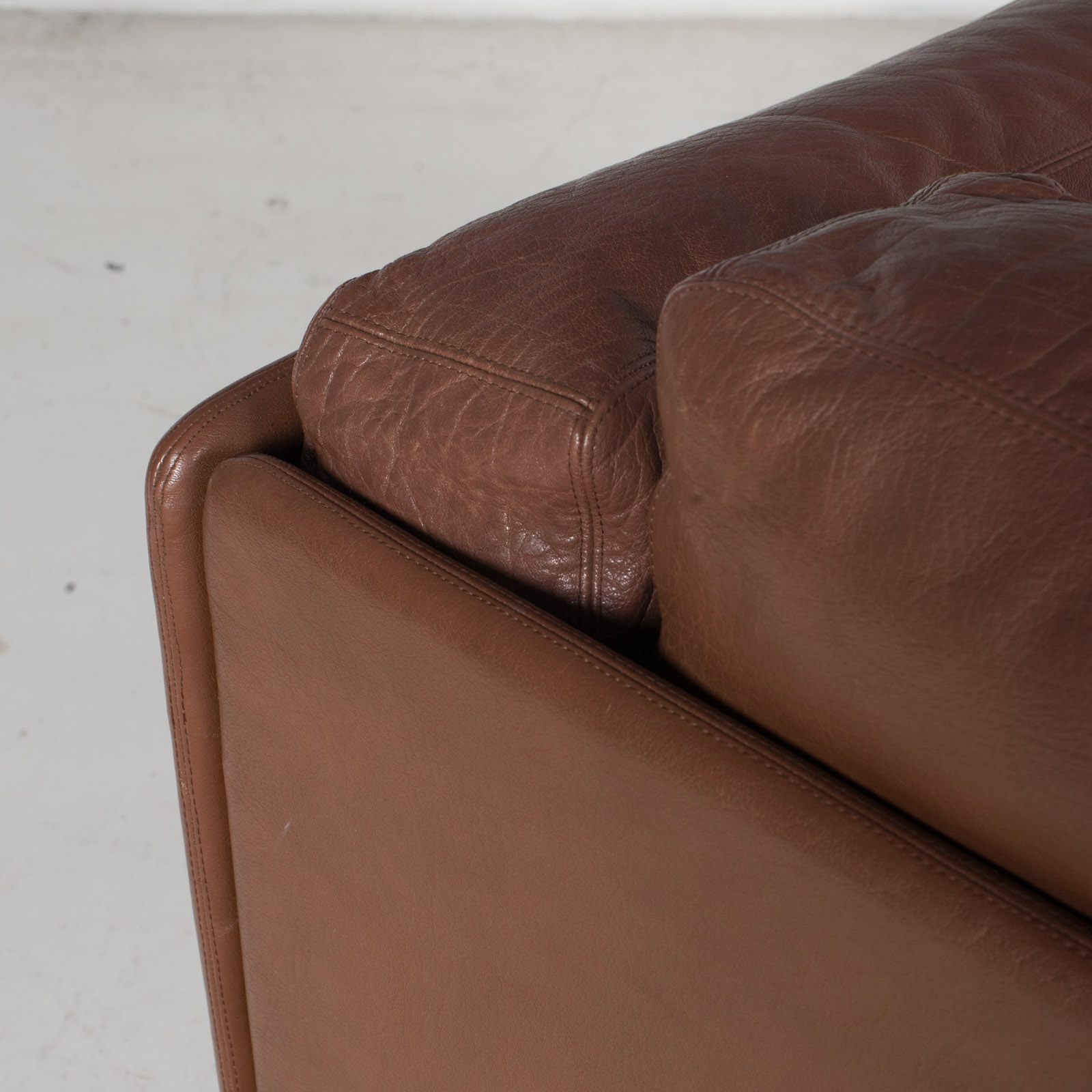 2 Seater Sofa In Brown Leather, 1960s, Switzerland 13
