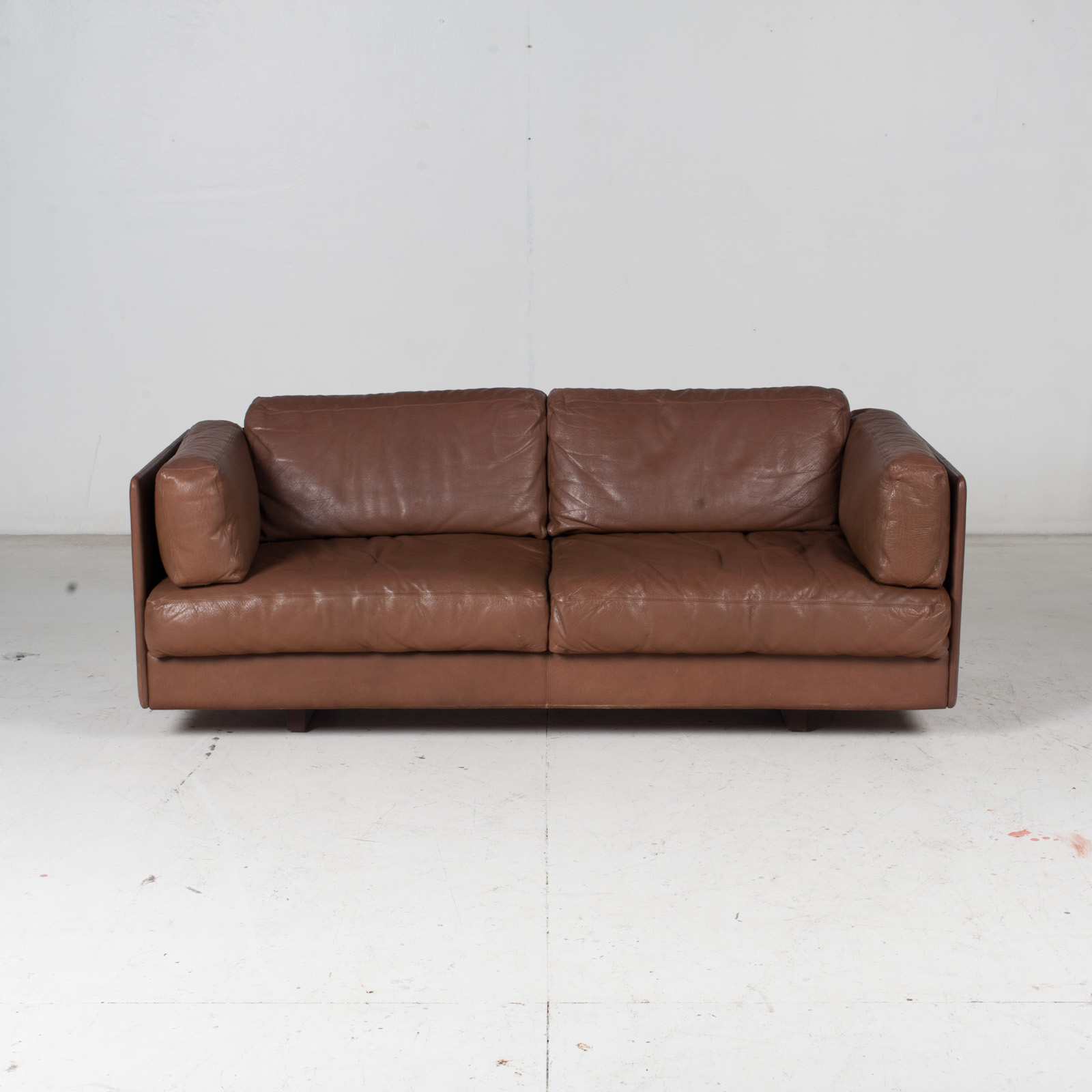 2 Seater Sofa In Brown Leather, 1960s, Switzerland 2