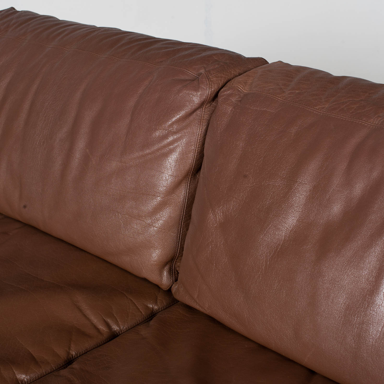 2 Seater Sofa In Brown Leather, 1960s, Switzerland 9