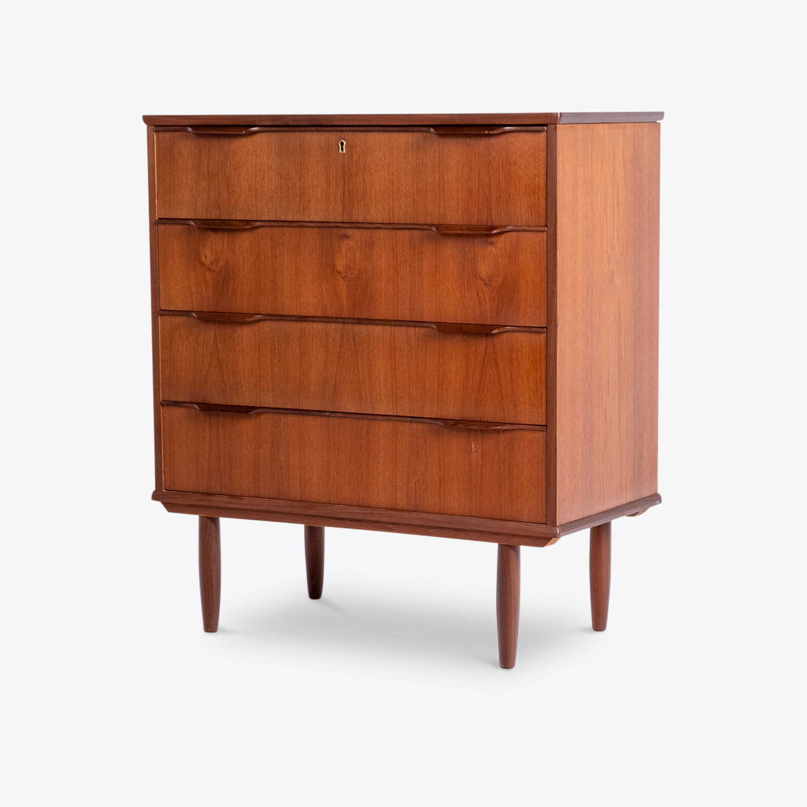 Chest Of Drawers In Teak, 1960s, Denmark4 Hero