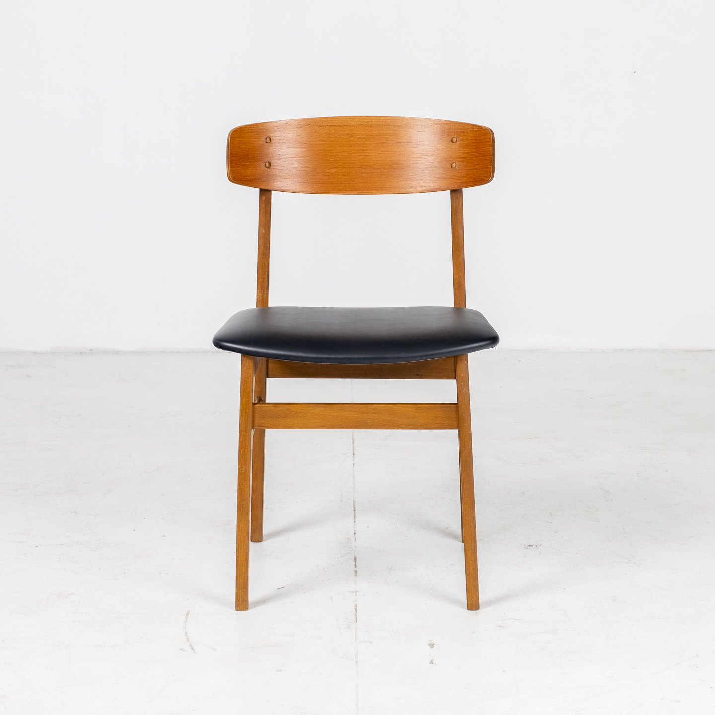 Set Of Four Square Back Dining Chairs By Fastrup In Teak, 1960s, Denmark01
