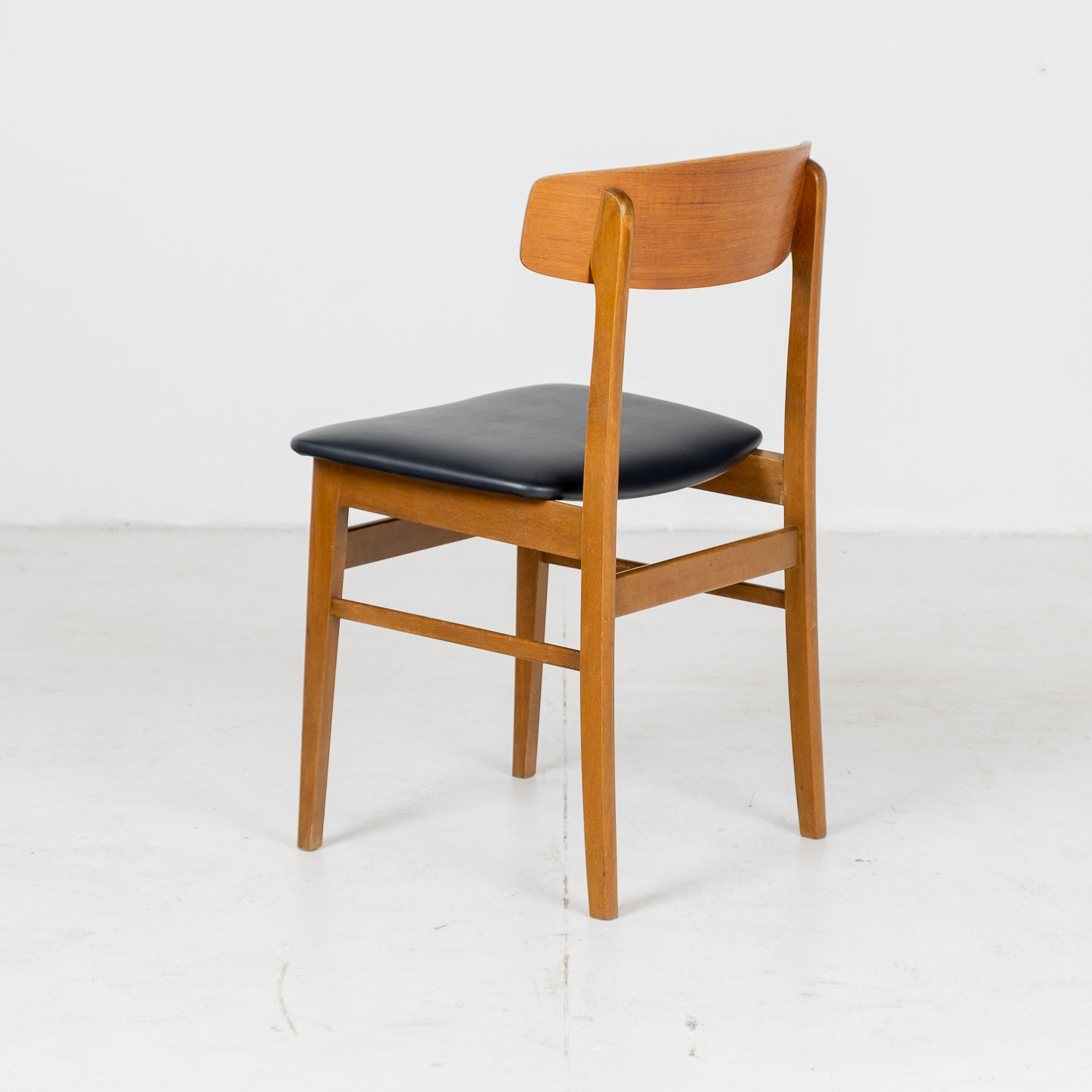 Set Of Four Square Back Dining Chairs By Fastrup In Teak, 1960s, Denmark03