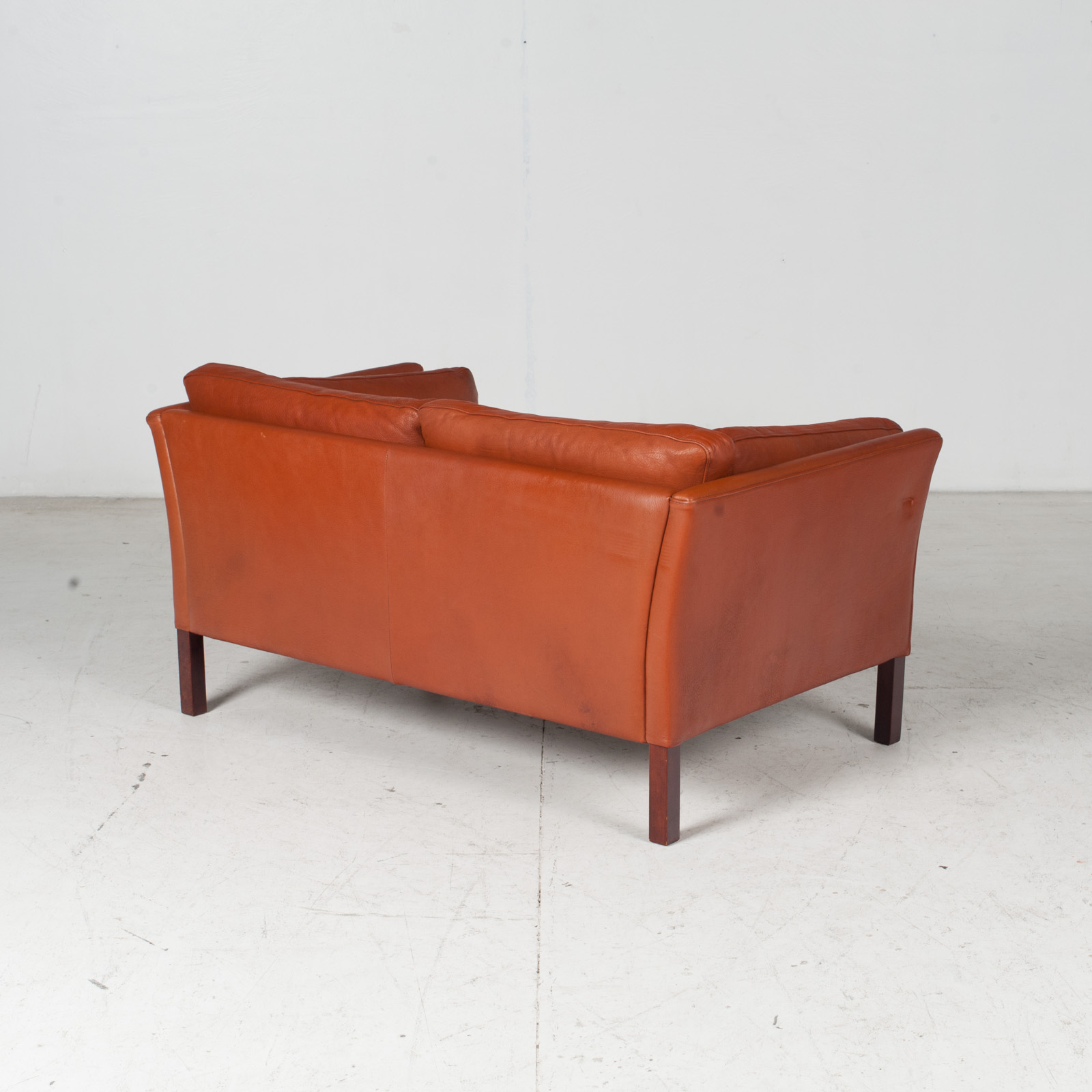 2 Seat Sofa By Stouby In Tan Leather, 1960s, Denmark 7
