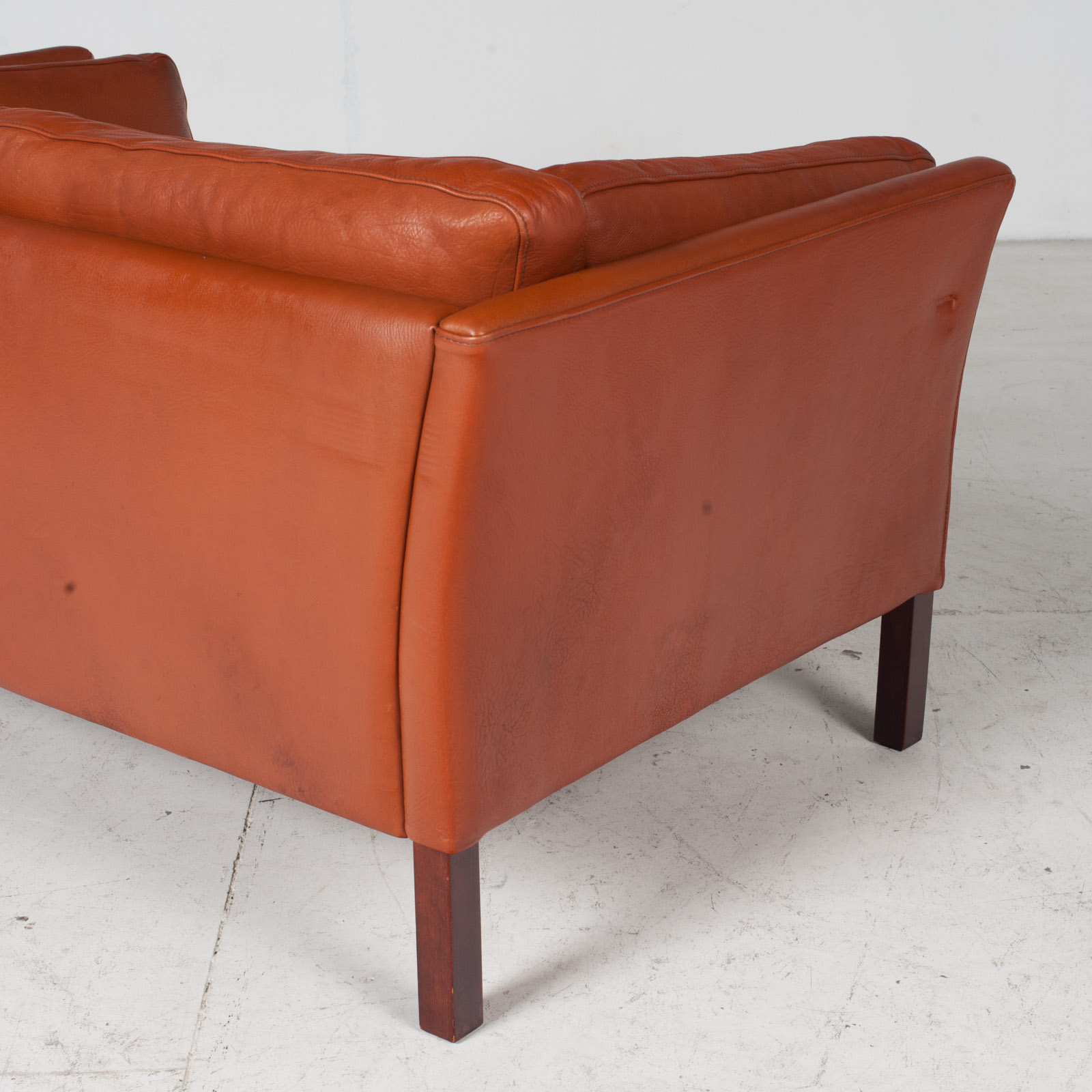 2 Seat Sofa By Stouby In Tan Leather, 1960s, Denmark 8