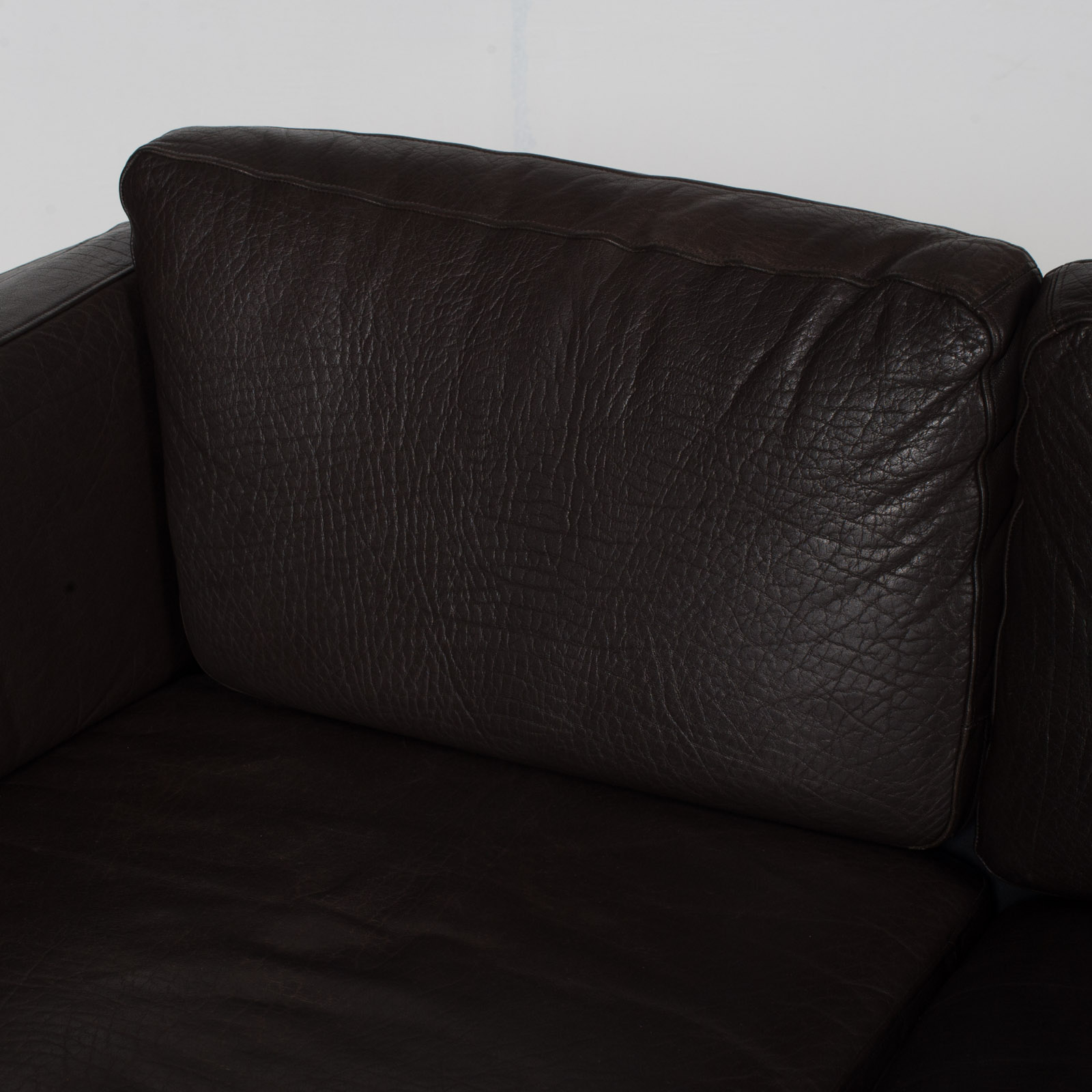 3 Seat Sofa In Dark Brown Leather, 1960s, Denmark 7