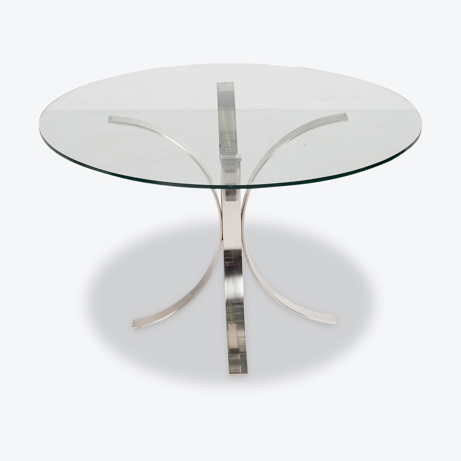 Dining Table With Metal Base And Black Top (mt Dt 194 902)