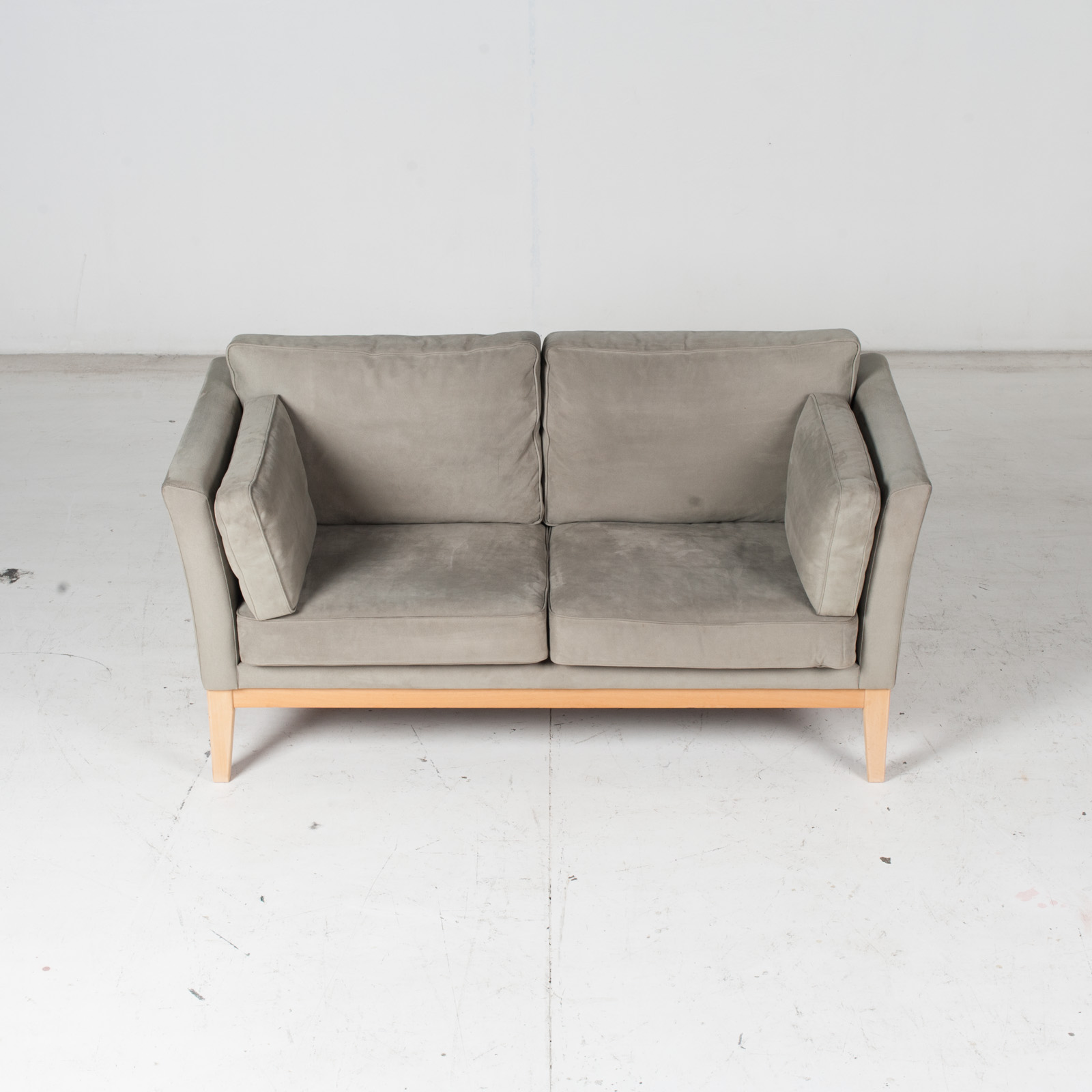 2 Seat Sofa By Stouby In Grey Macro Suede, 1960s, Denmark3