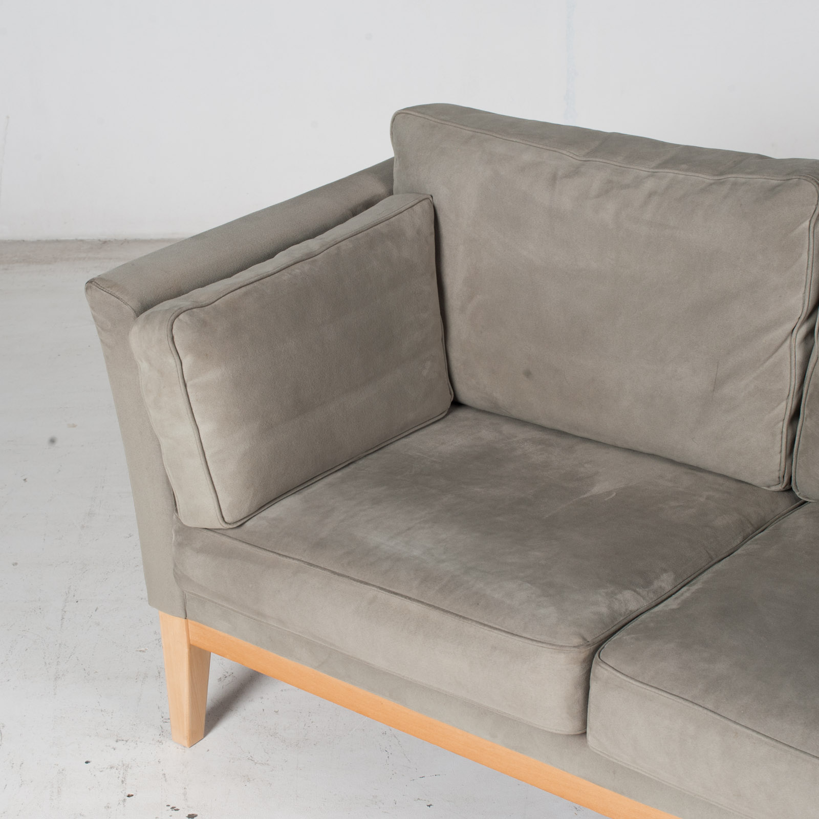 2 Seat Sofa By Stouby In Grey Macro Suede, 1960s, Denmark5