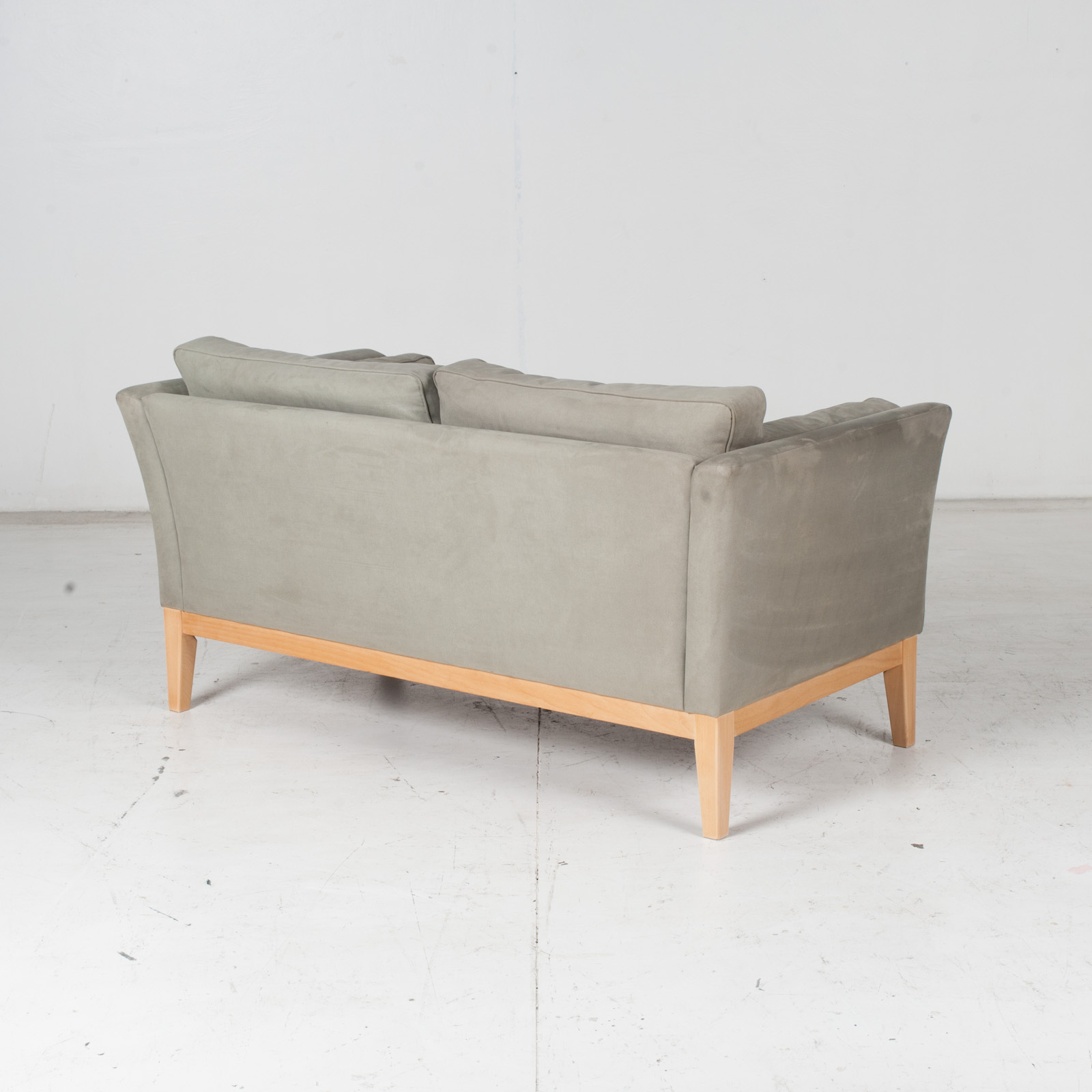 2 Seat Sofa By Stouby In Grey Macro Suede, 1960s, Denmark7