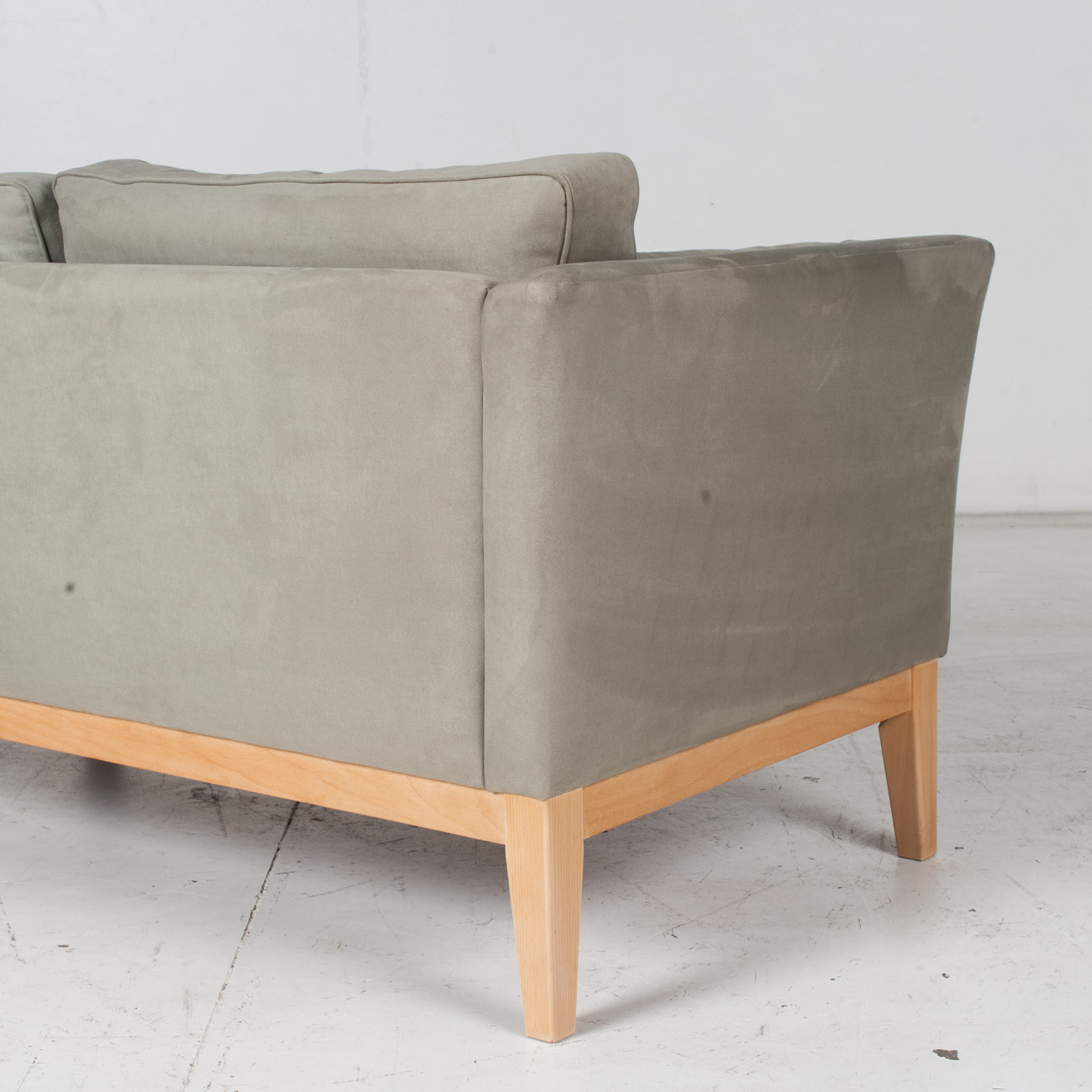 2 Seat Sofa By Stouby In Grey Macro Suede, 1960s, Denmark8