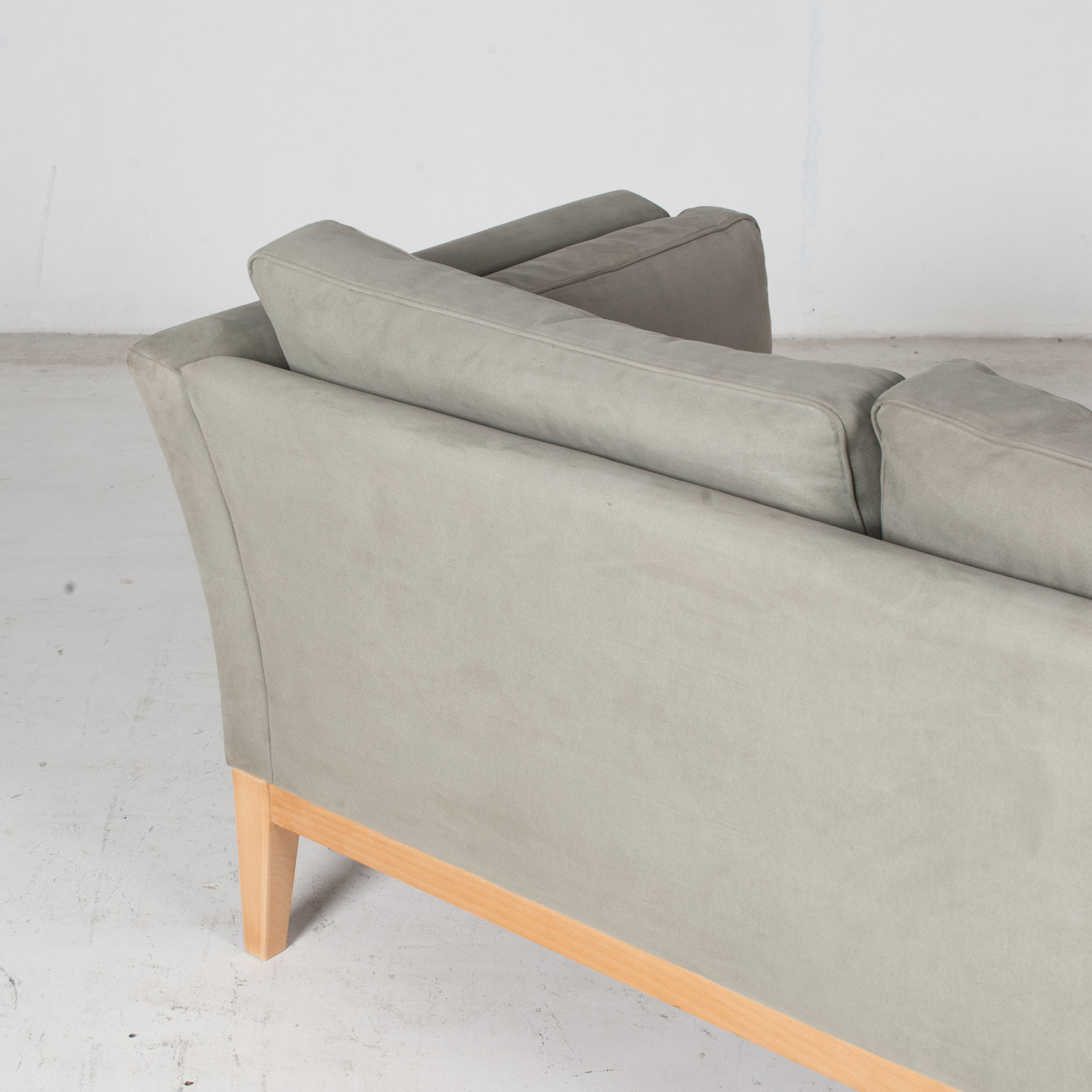 2 Seat Sofa By Stouby In Grey Macro Suede, 1960s, Denmark9