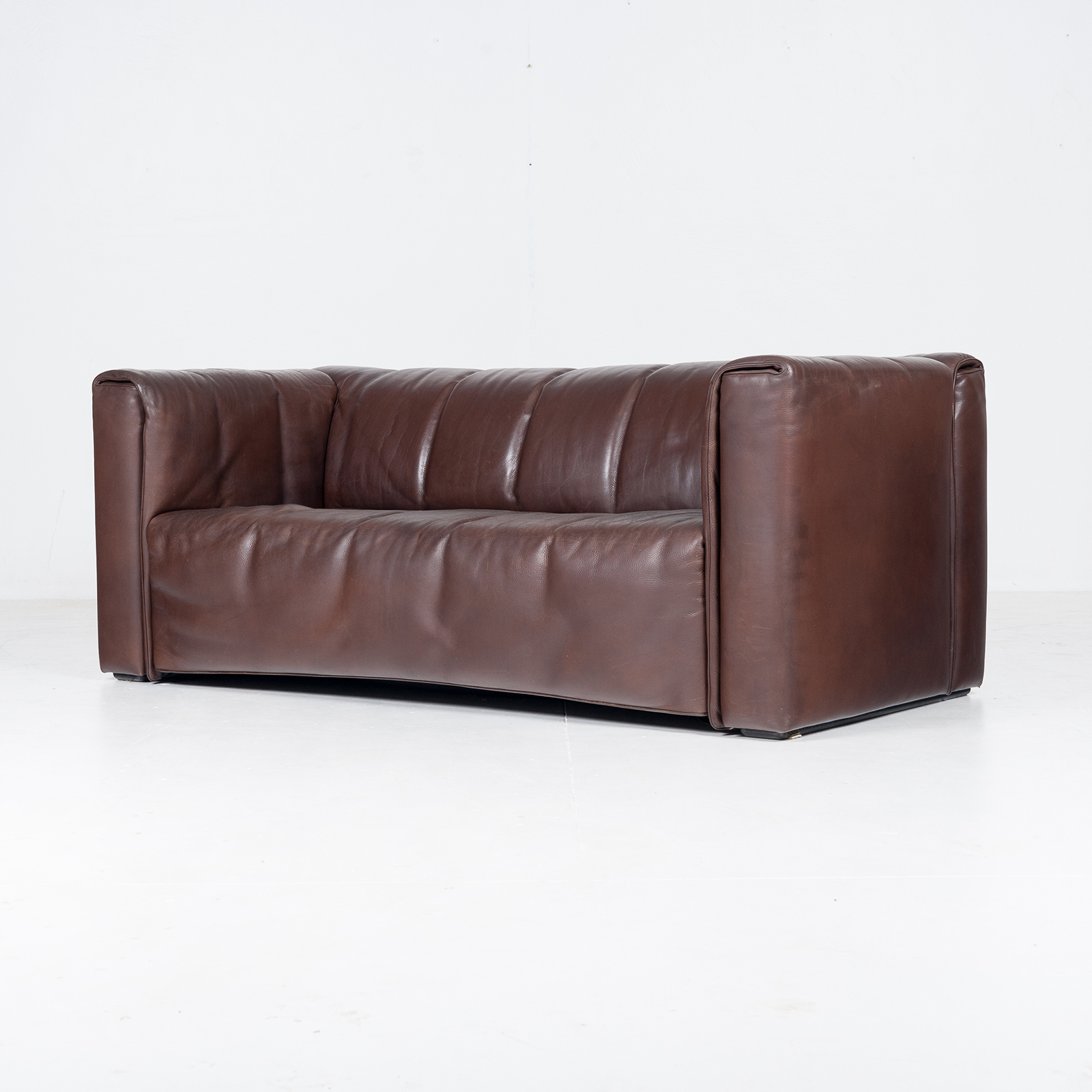 2.5 Seat Leather Sofa By Wittmann, Austria36
