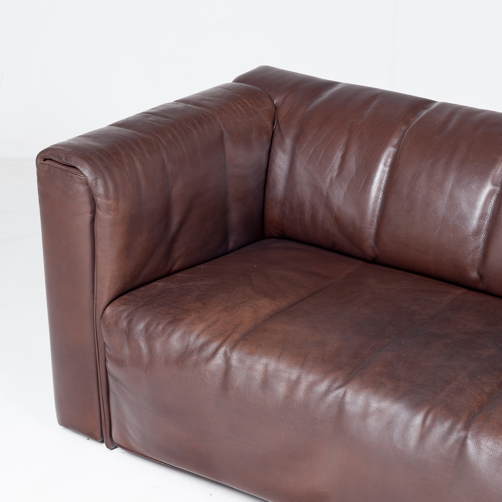 2.5 Seat Leather Sofa By Wittmann, Austria41