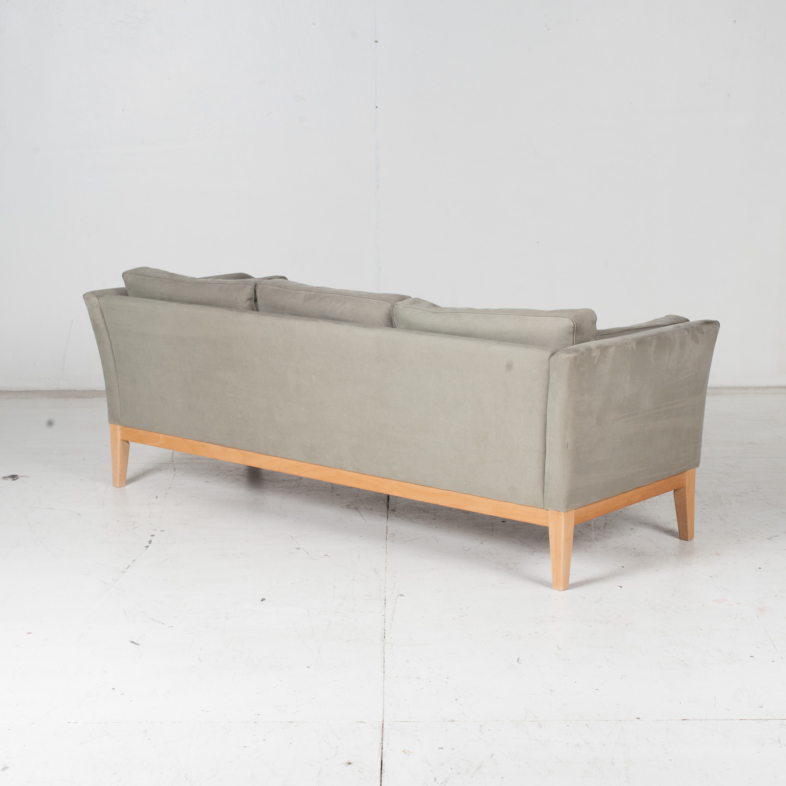 3 Seat Sofa By Stouby In Grey Macro Suede, 1960s, Denmark7