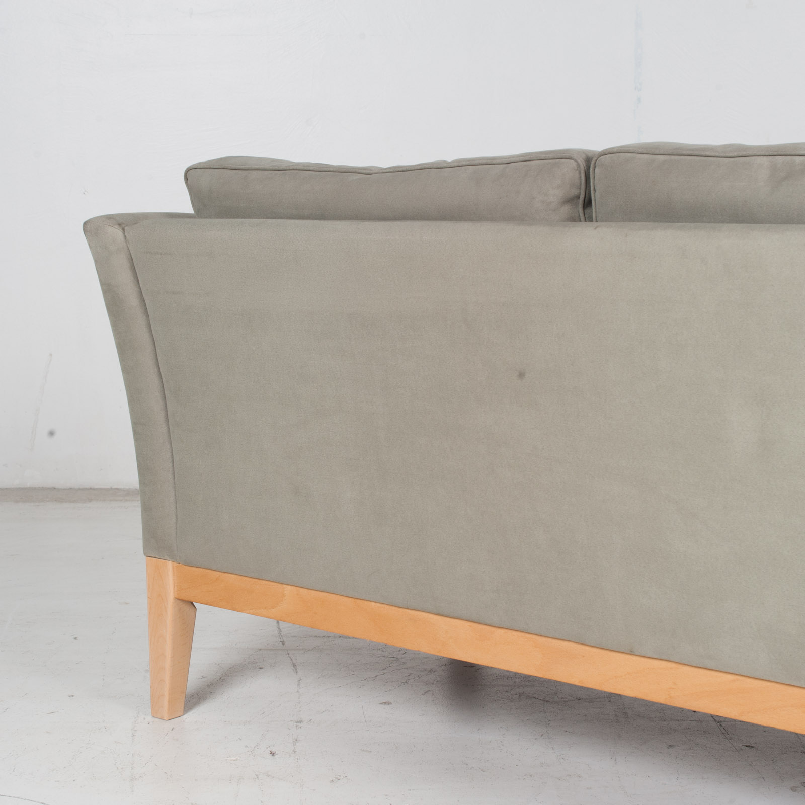 3 Seat Sofa By Stouby In Grey Macro Suede, 1960s, Denmark9