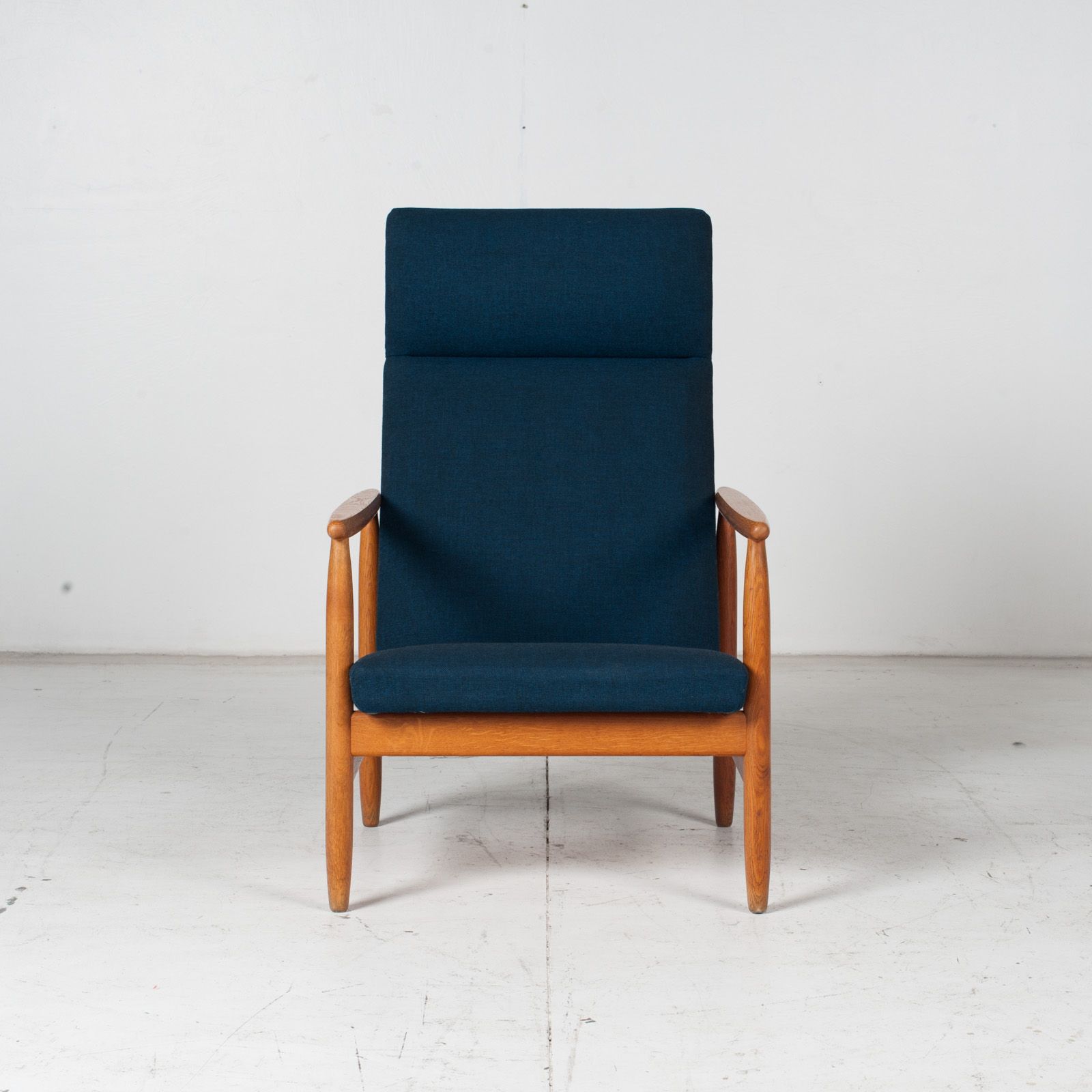 Armchair By Ejvind A. Johansson In Blue Upholstery, 1960s, Denmark1