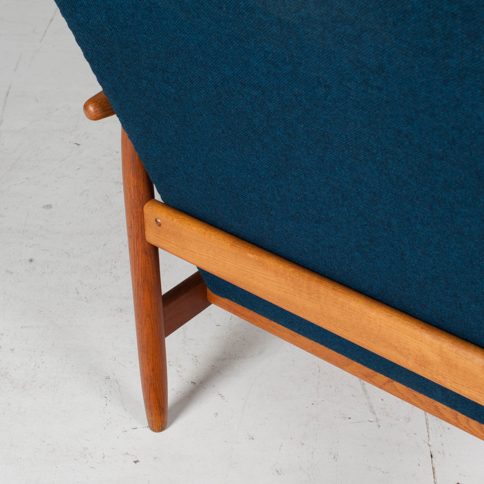 Armchair By Ejvind A. Johansson In Blue Upholstery, 1960s, Denmark11