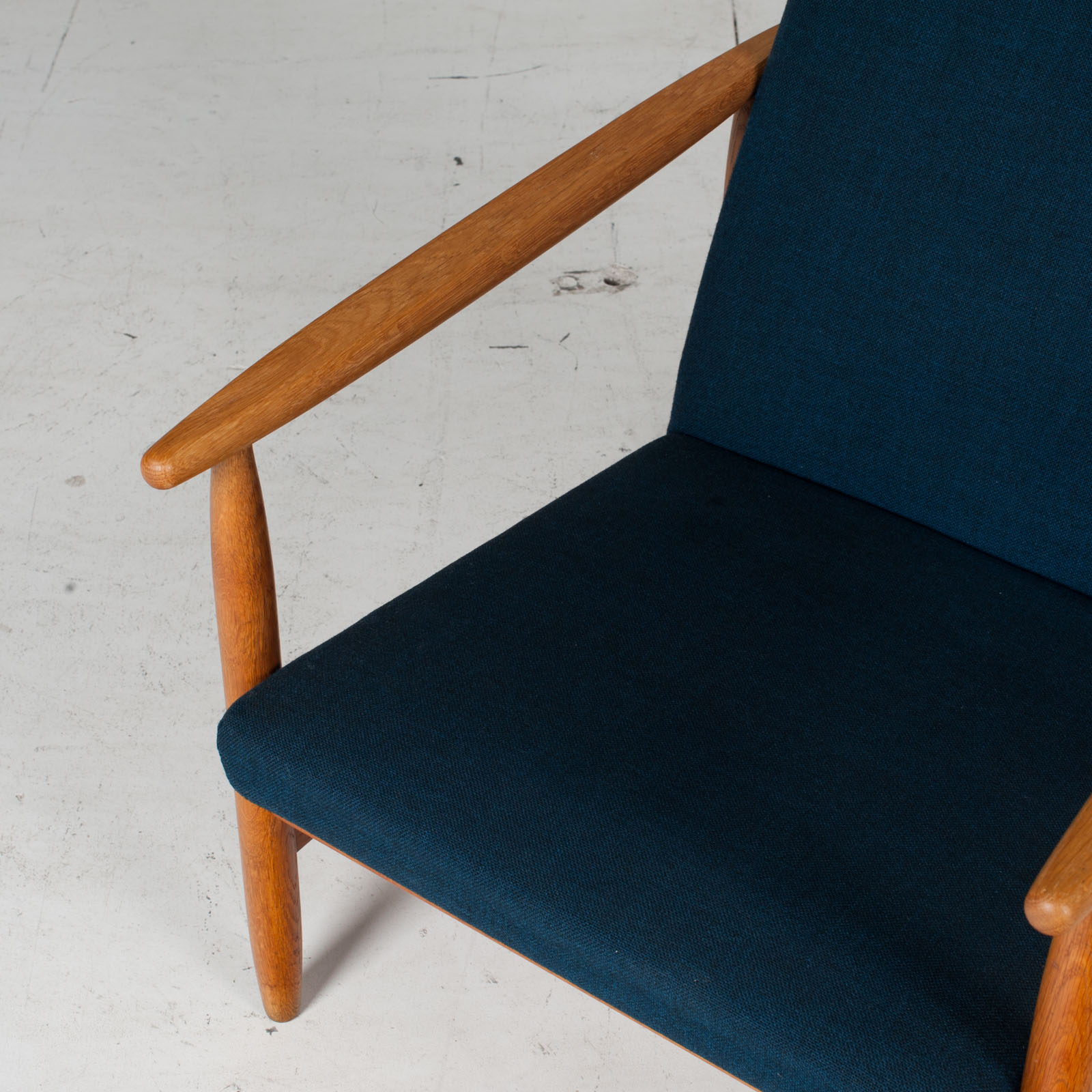 Armchair By Ejvind A. Johansson In Blue Upholstery, 1960s, Denmark5