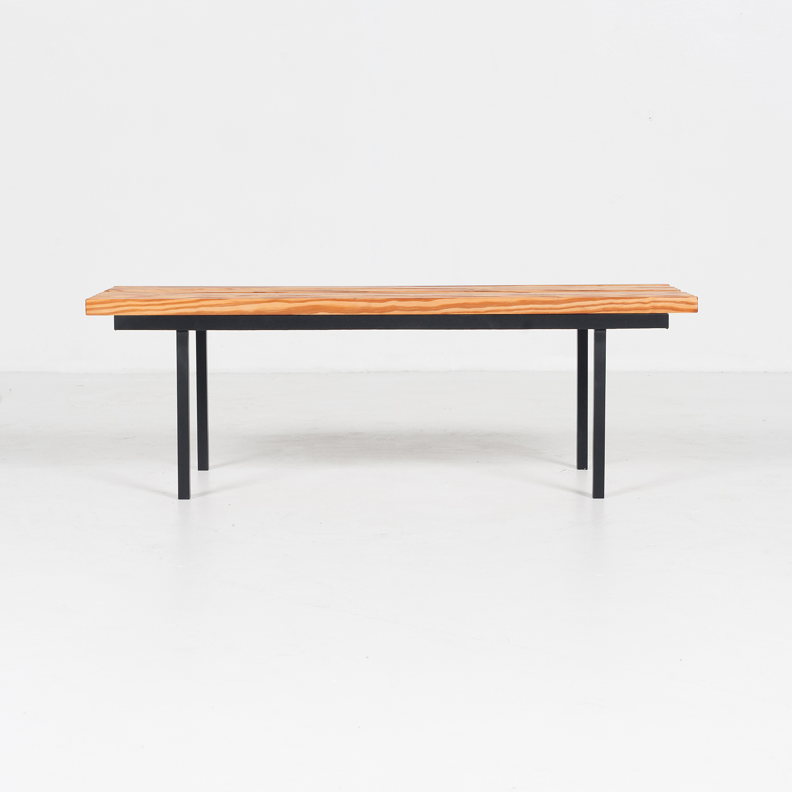 Bench In Pine And Steel, 1950s, The Netherlands 07
