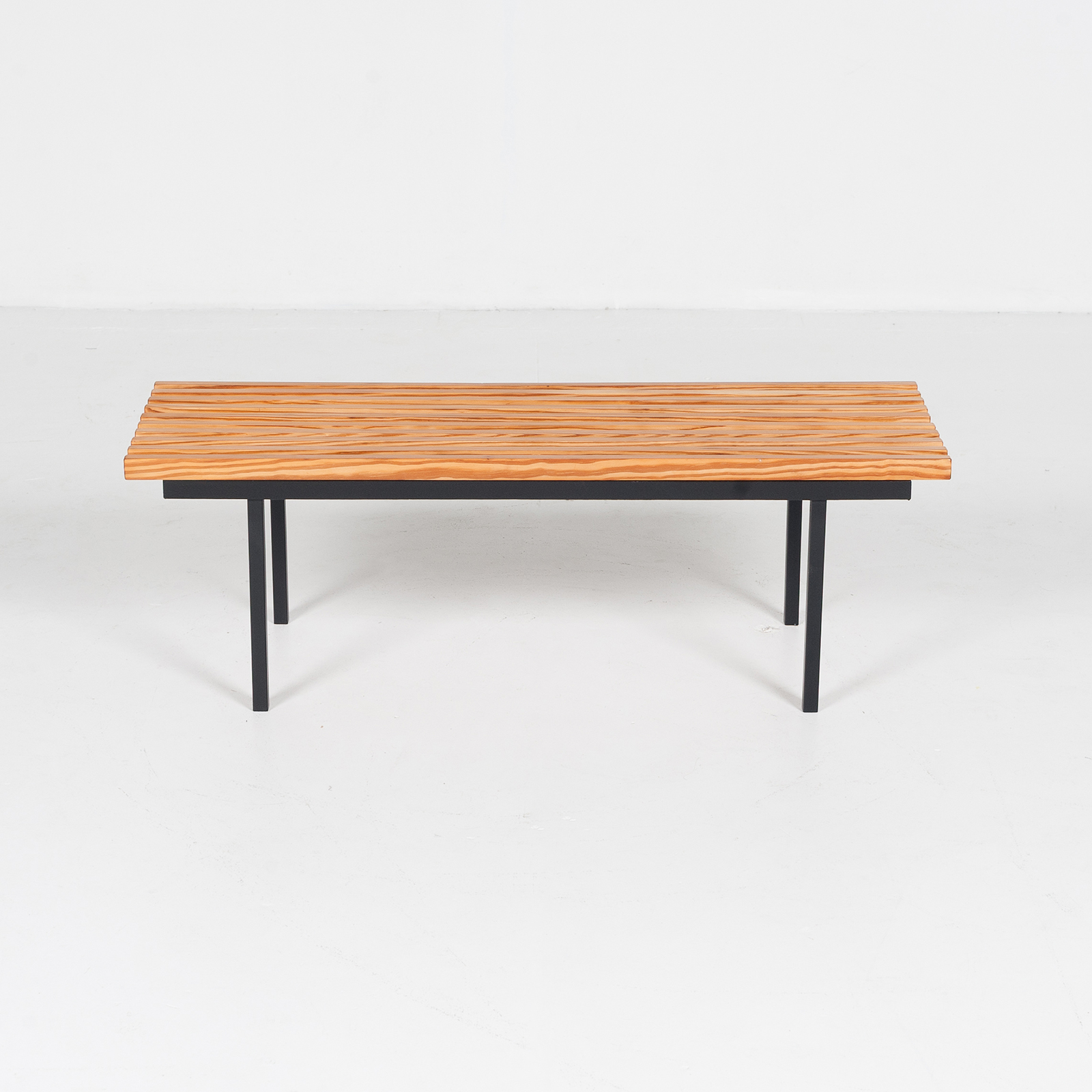 Bench In Pine And Steel, 1950s, The Netherlands 08