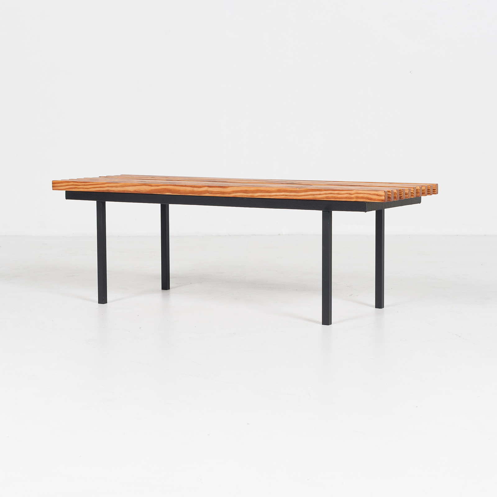 Bench In Pine And Steel, 1950s, The Netherlands 09