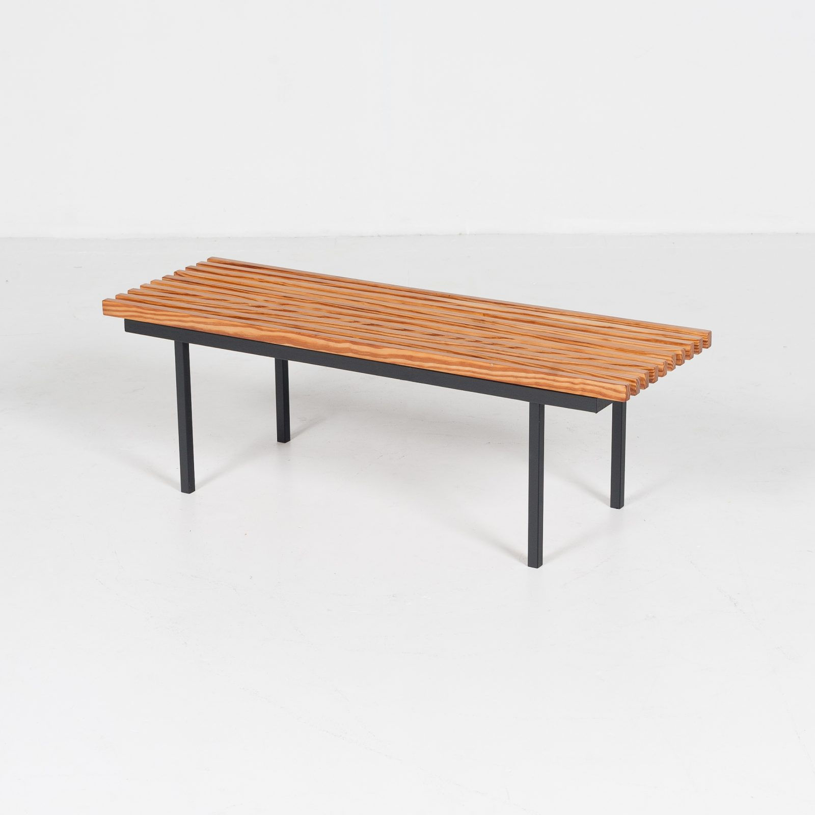 Bench In Pine And Steel, 1950s, The Netherlands 10