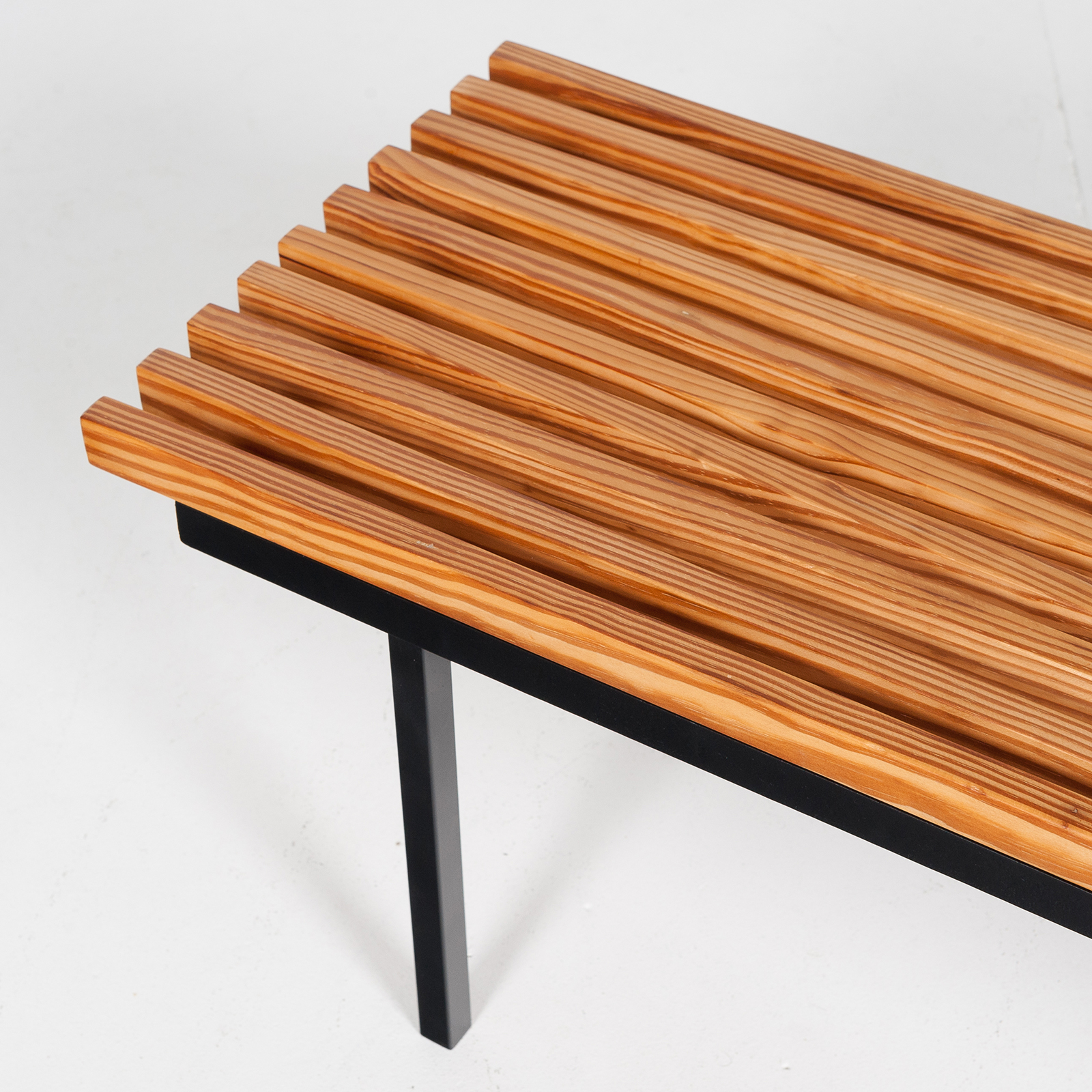 Bench In Pine And Steel, 1950s, The Netherlands 12