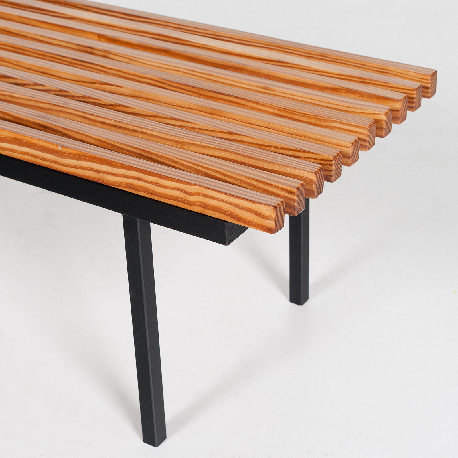 Bench In Pine And Steel, 1950s, The Netherlands 13