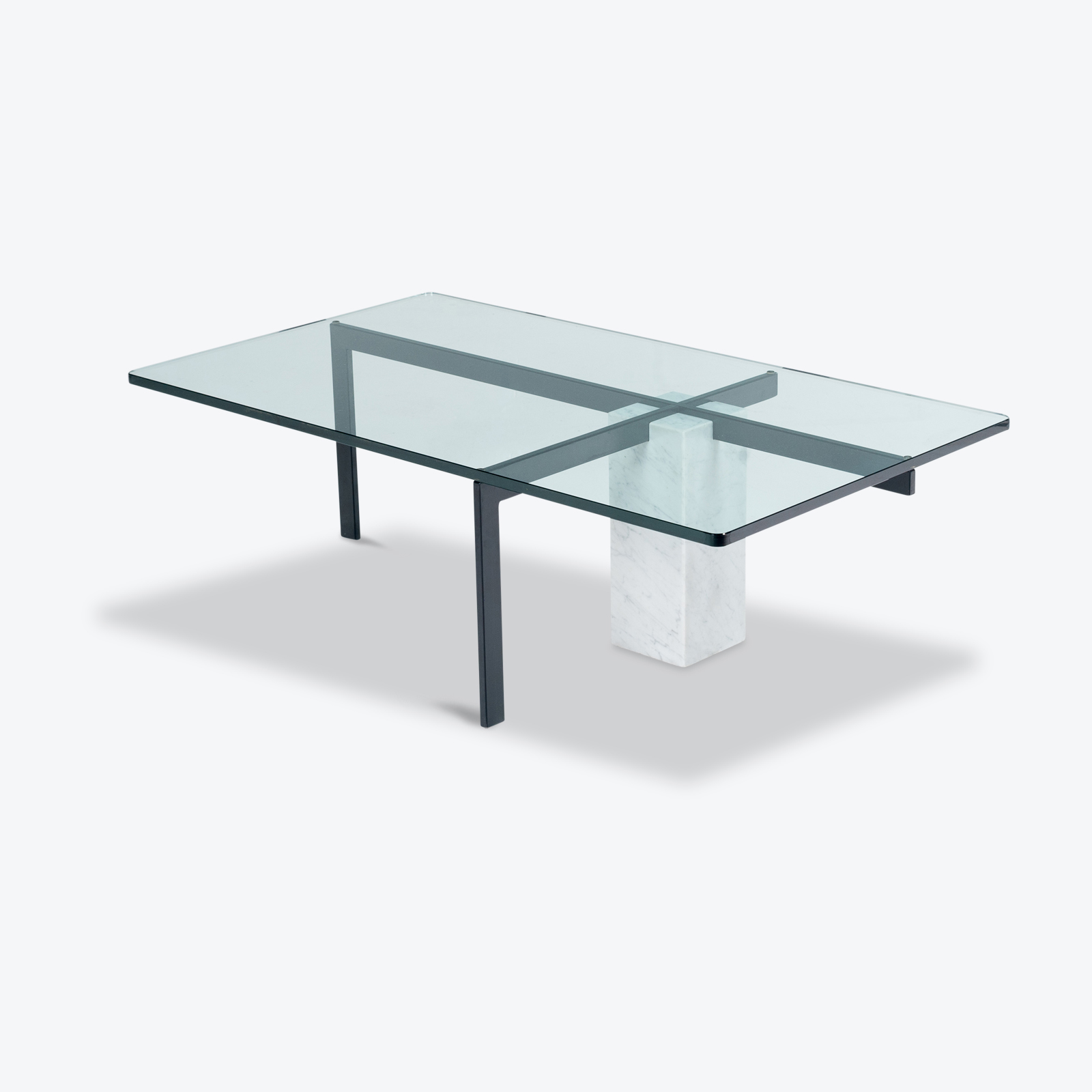 Coffee Table In Marble And Glass, 1960s, The Netherlands Hero