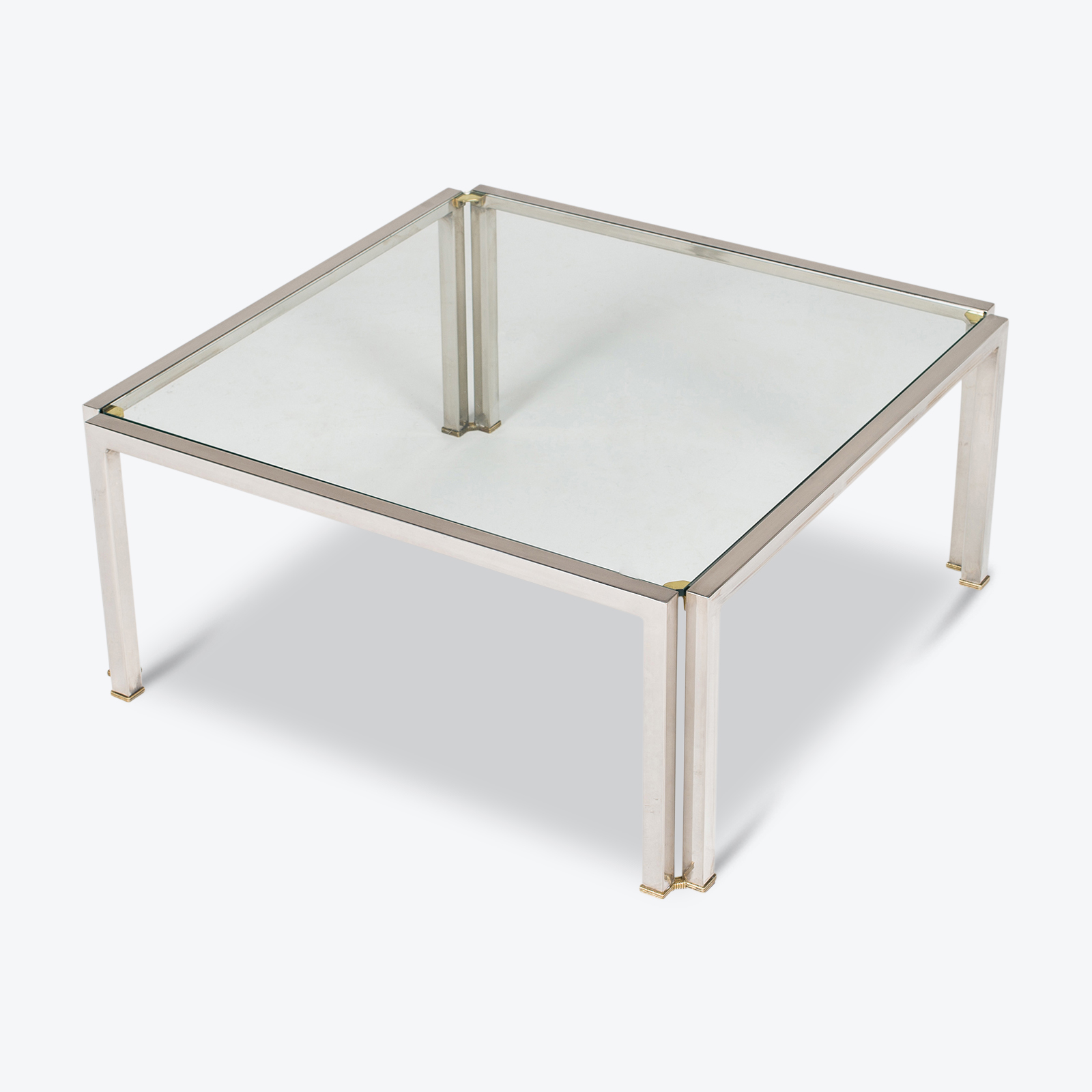 Coffee Table With Glass Top, Belgium Hero