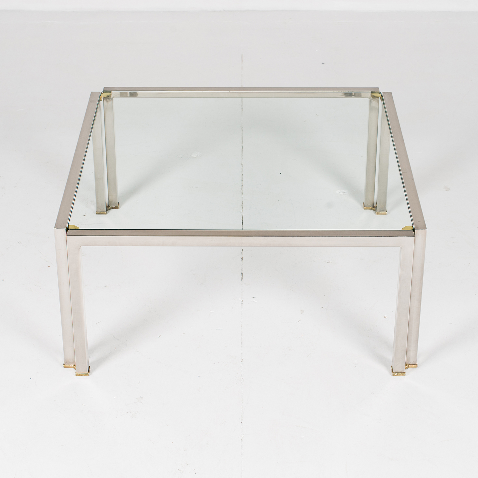 Coffee Table With Glass Top, Belgium 2980