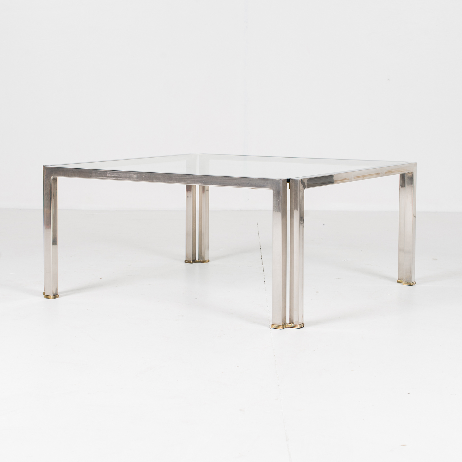 Coffee Table With Glass Top, Belgium 2981