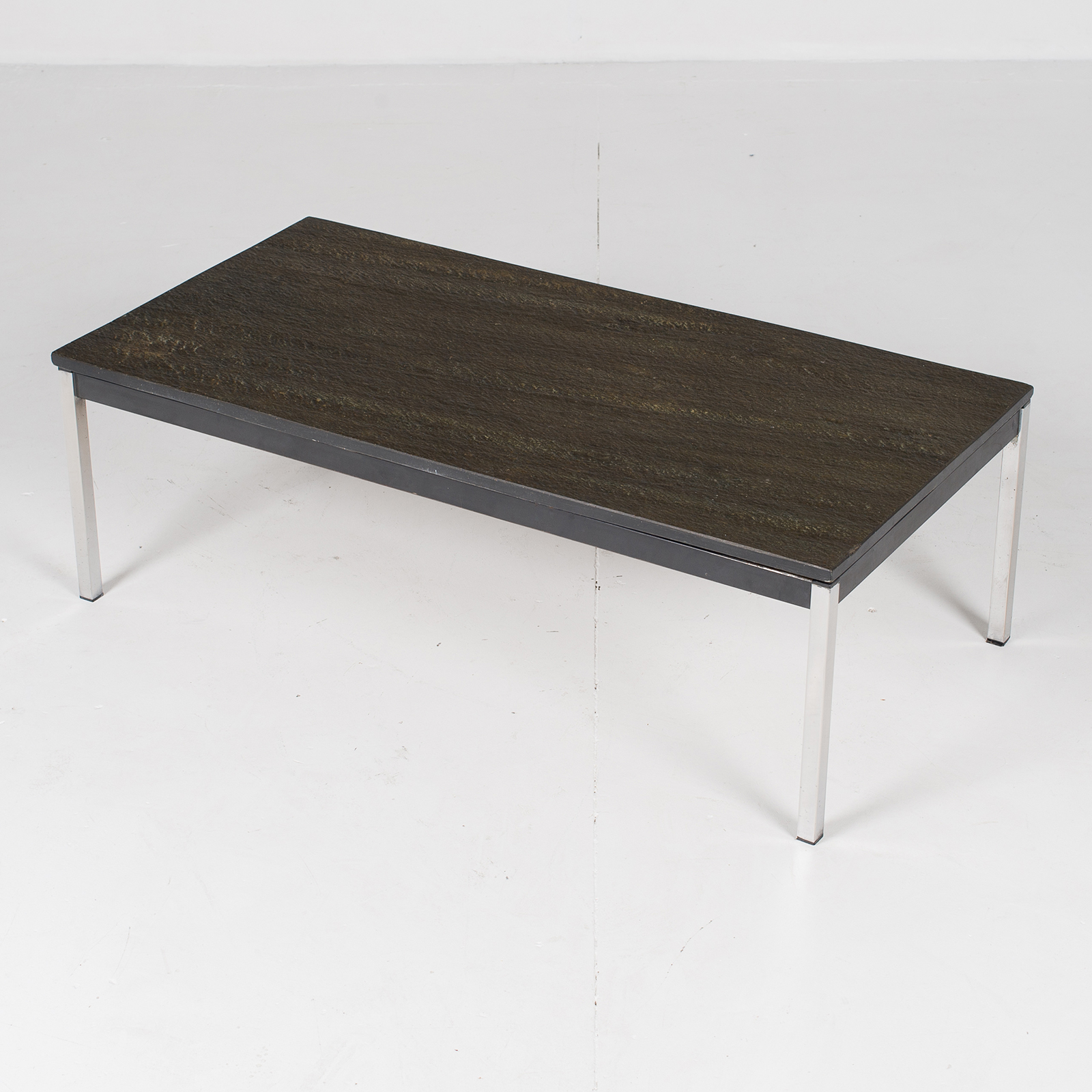 Coffee Table With Slate Top By Martin Visser, 1950s, The Netherlands High Res