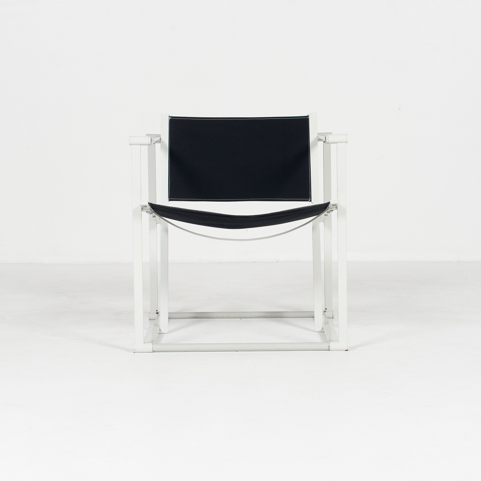 Model Fm60 Cubic Chair By Radboud Van Beekum For Pastoe In Black Canvas And Grey Frame, 1980s, The Netherlands32