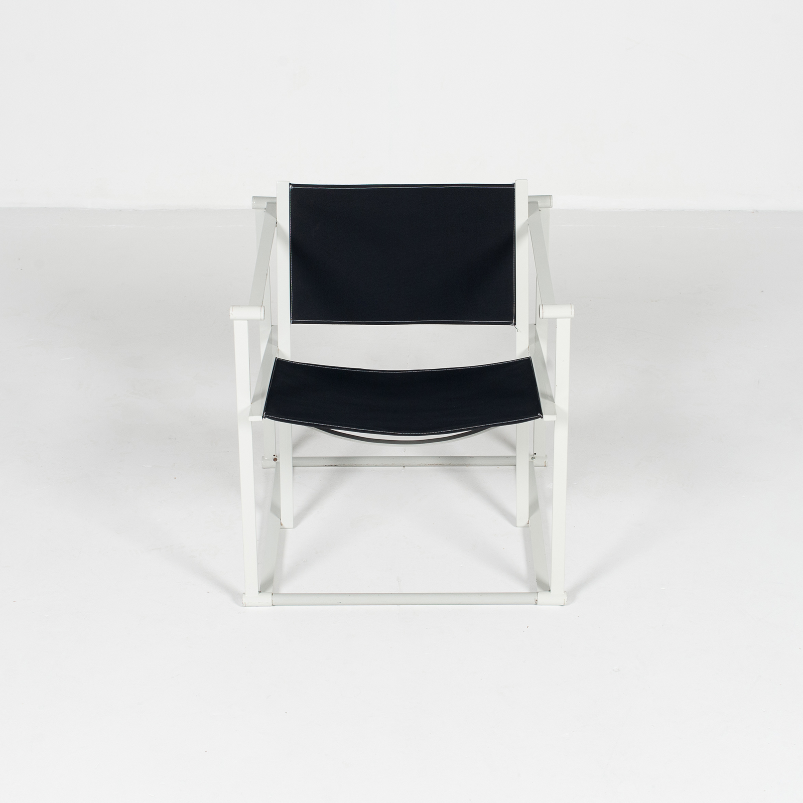 Model Fm60 Cubic Chair By Radboud Van Beekum For Pastoe In Black Canvas And Grey Frame, 1980s, The Netherlands33