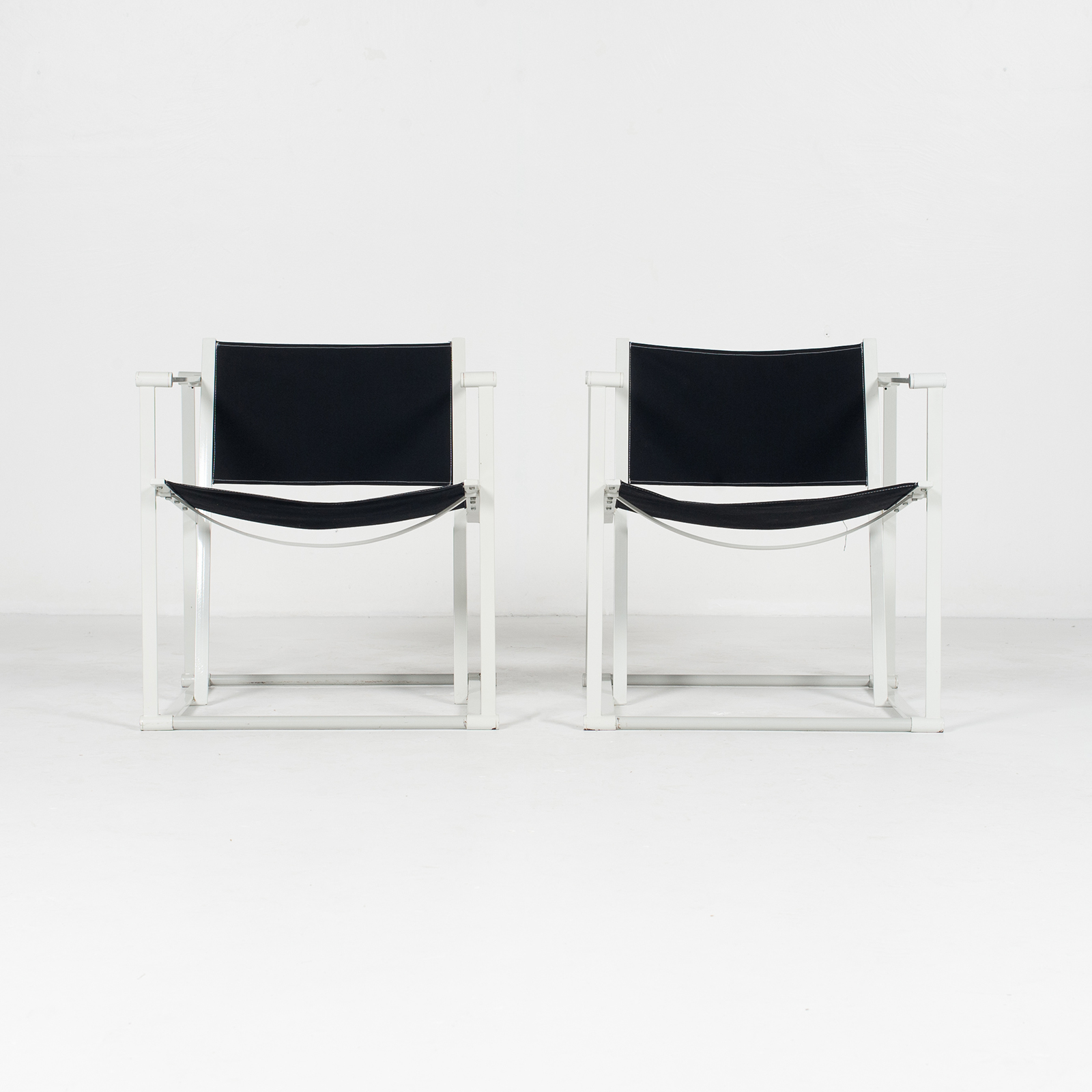 Model Fm60 Cubic Chair By Radboud Van Beekum For Pastoe In Black Canvas And Grey Frame, 1980s, The Netherlands38