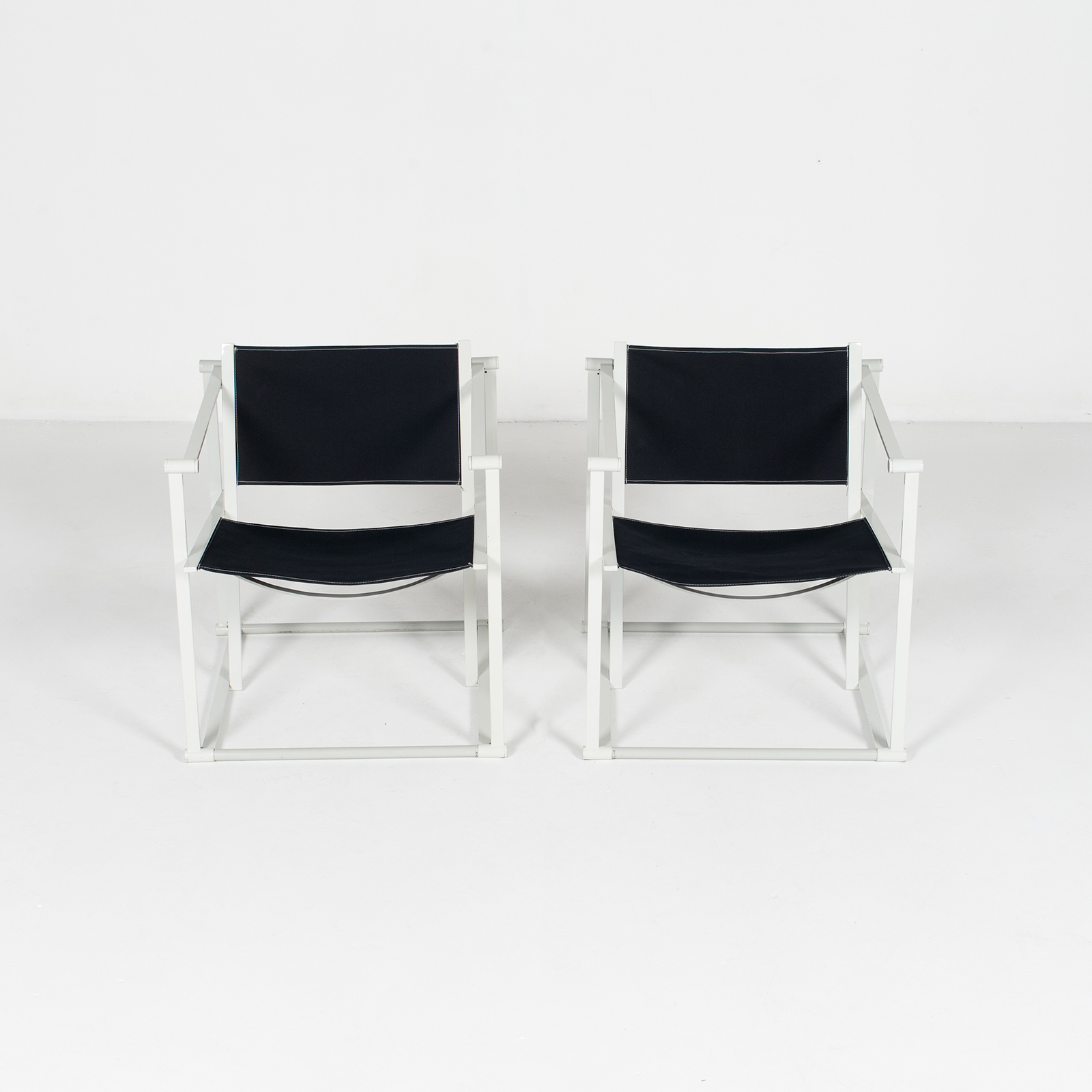Model Fm60 Cubic Chair By Radboud Van Beekum For Pastoe In Black Canvas And Grey Frame, 1980s, The Netherlands39