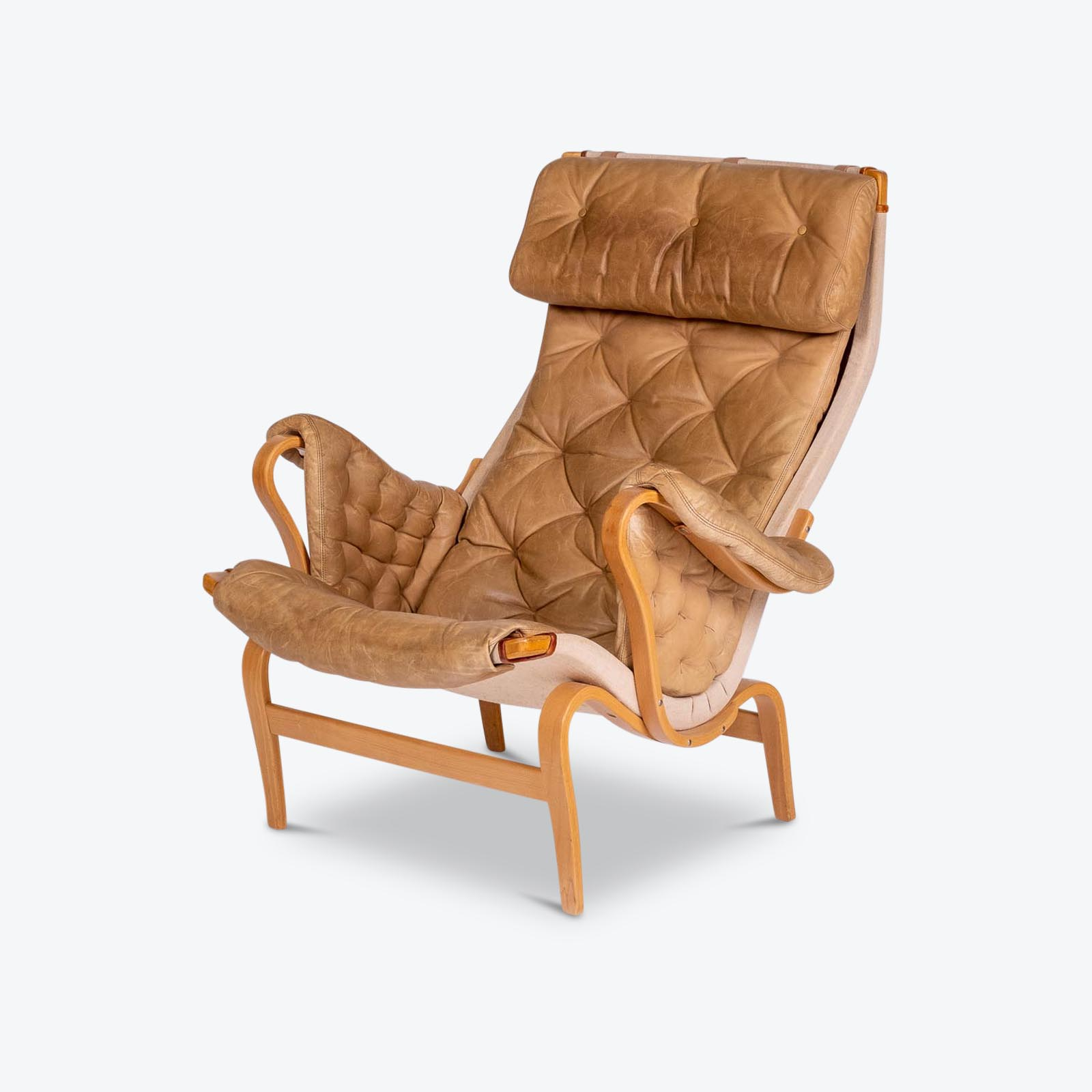 Pernilla 69 Chair By Bruno Mathsson For Dux, 1960s, Sweden Hero