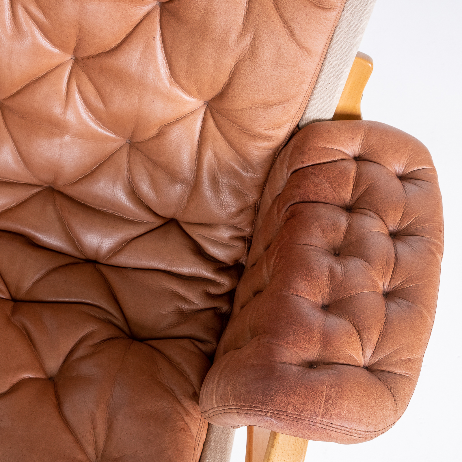 Pernilla 69 Chair With Footstool By Bruno Mathsson For Dux, 1960s, Sweden 09