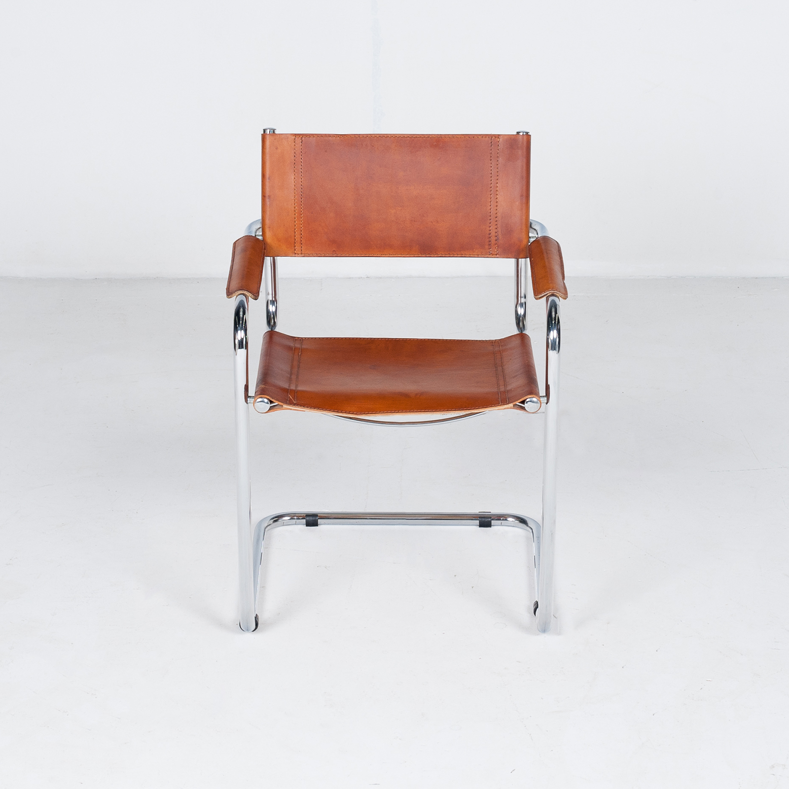Set Of 4 Model S34 Cantilever Chairs In Tan Leather By Mart Stam For Thonet, 1980s, Germany18