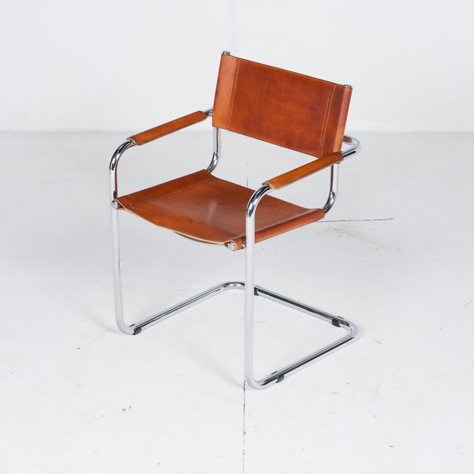 Set Of 4 Model S34 Cantilever Chairs In Tan Leather By Mart Stam For Thonet, 1980s, Germany20 2