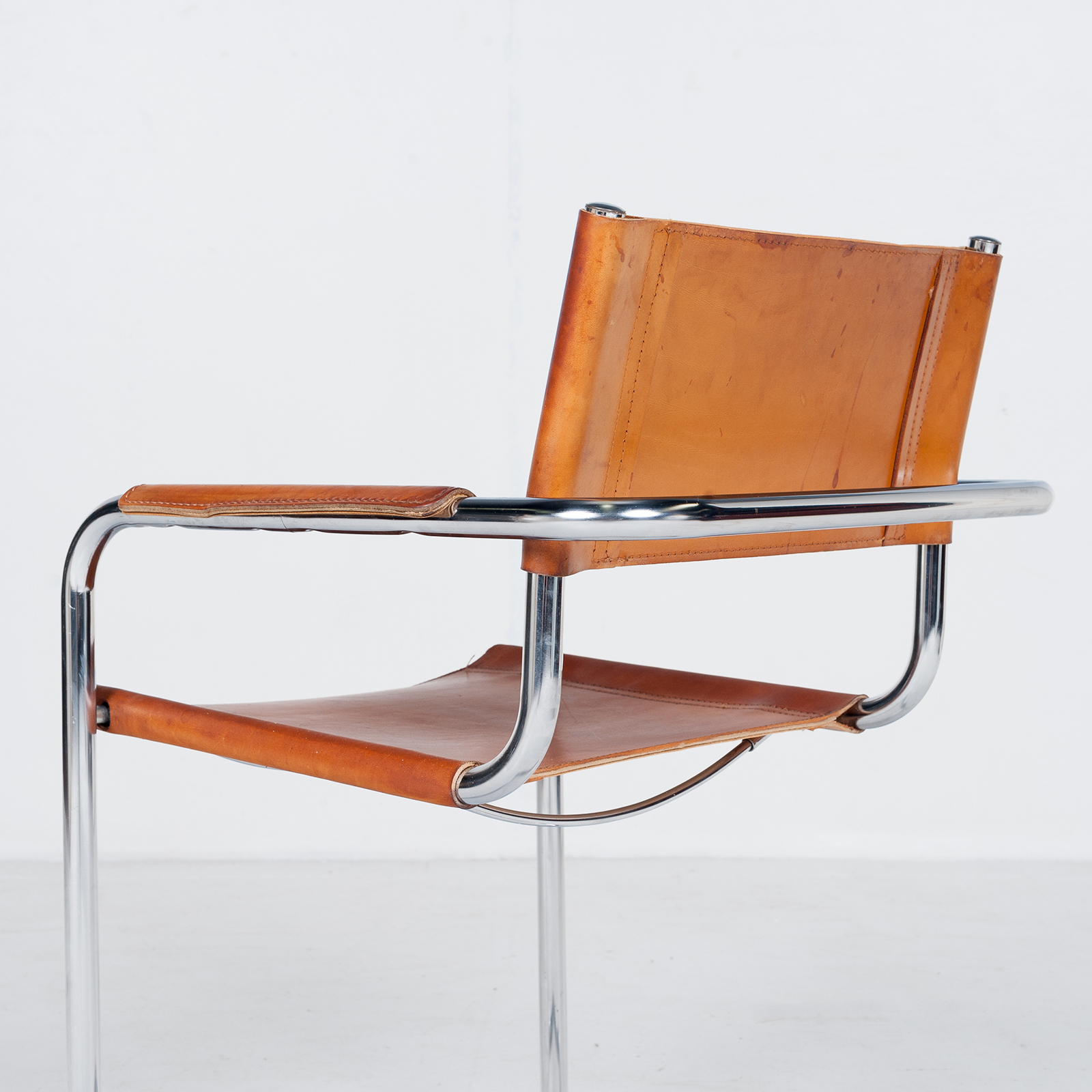 Set Of 4 Model S34 Cantilever Chairs In Tan Leather By Mart Stam For Thonet, 1980s, Germany28