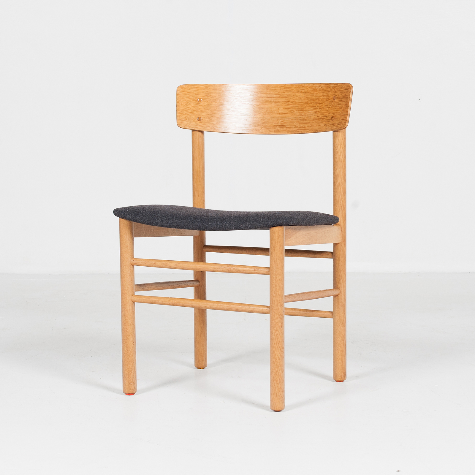 Set Of 4 Shaker Style Dining Chairs By Farstrup In Oak, 1960s, Denmark64