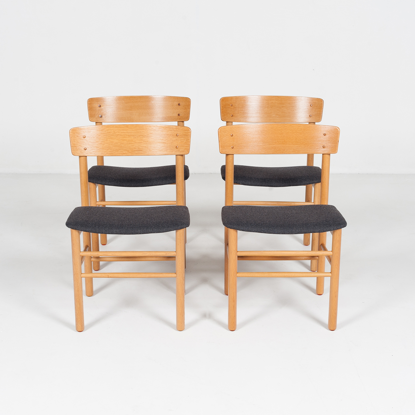 Set Of 4 Shaker Style Dining Chairs By Farstrup In Oak, 1960s, Denmark74