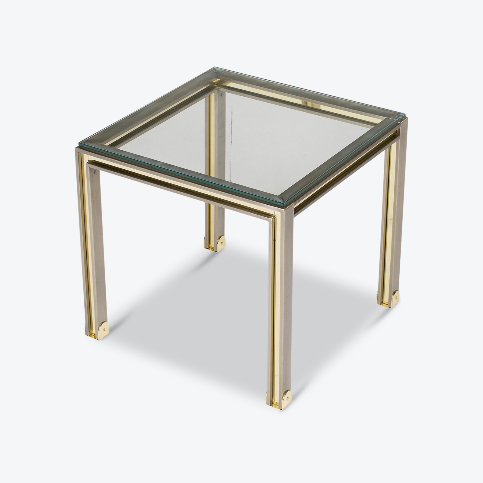 Side Table In Chrome And Brass By Romeo Rega, 1960s, Italy Hero