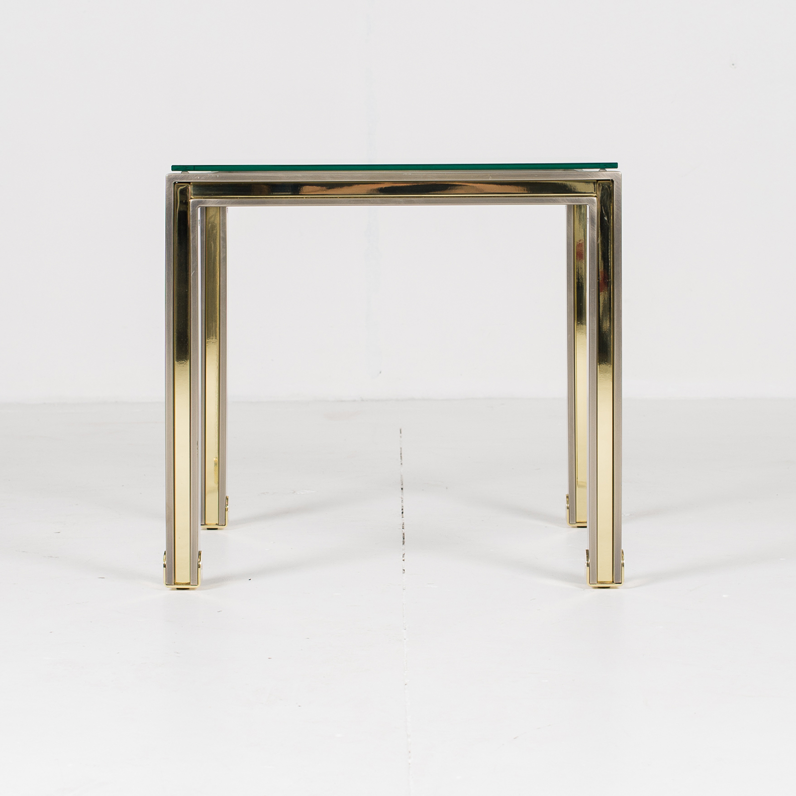 Side Table In Chrome And Brass By Romeo Rega, 1960s, Italy 2853