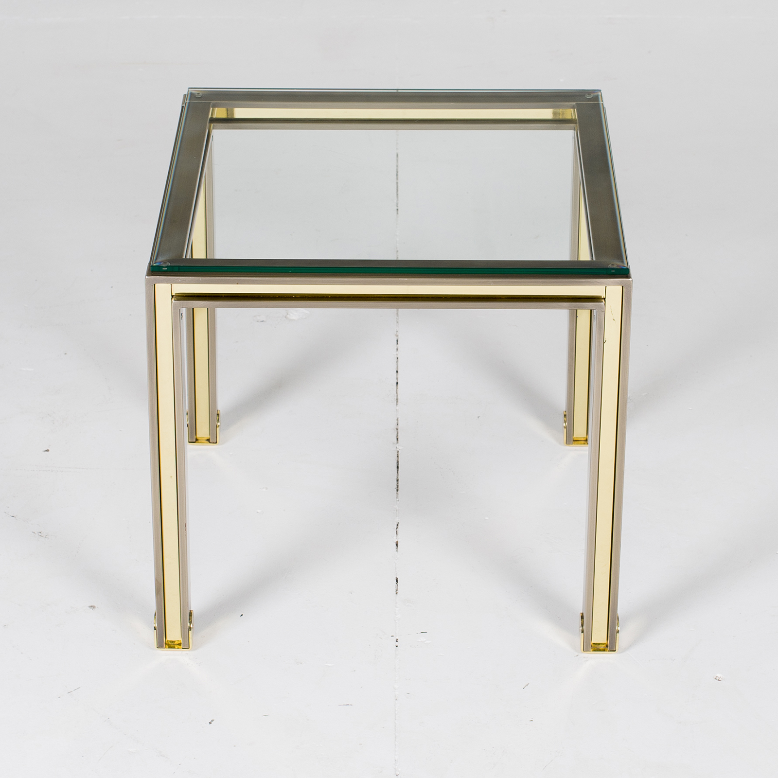 Side Table In Chrome And Brass By Romeo Rega, 1960s, Italy 2854